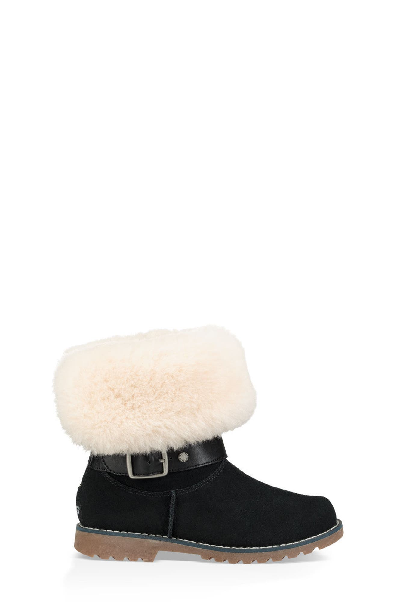Nessa Genuine Shearling Boot,                             Alternate thumbnail 2, color,                             BLACK