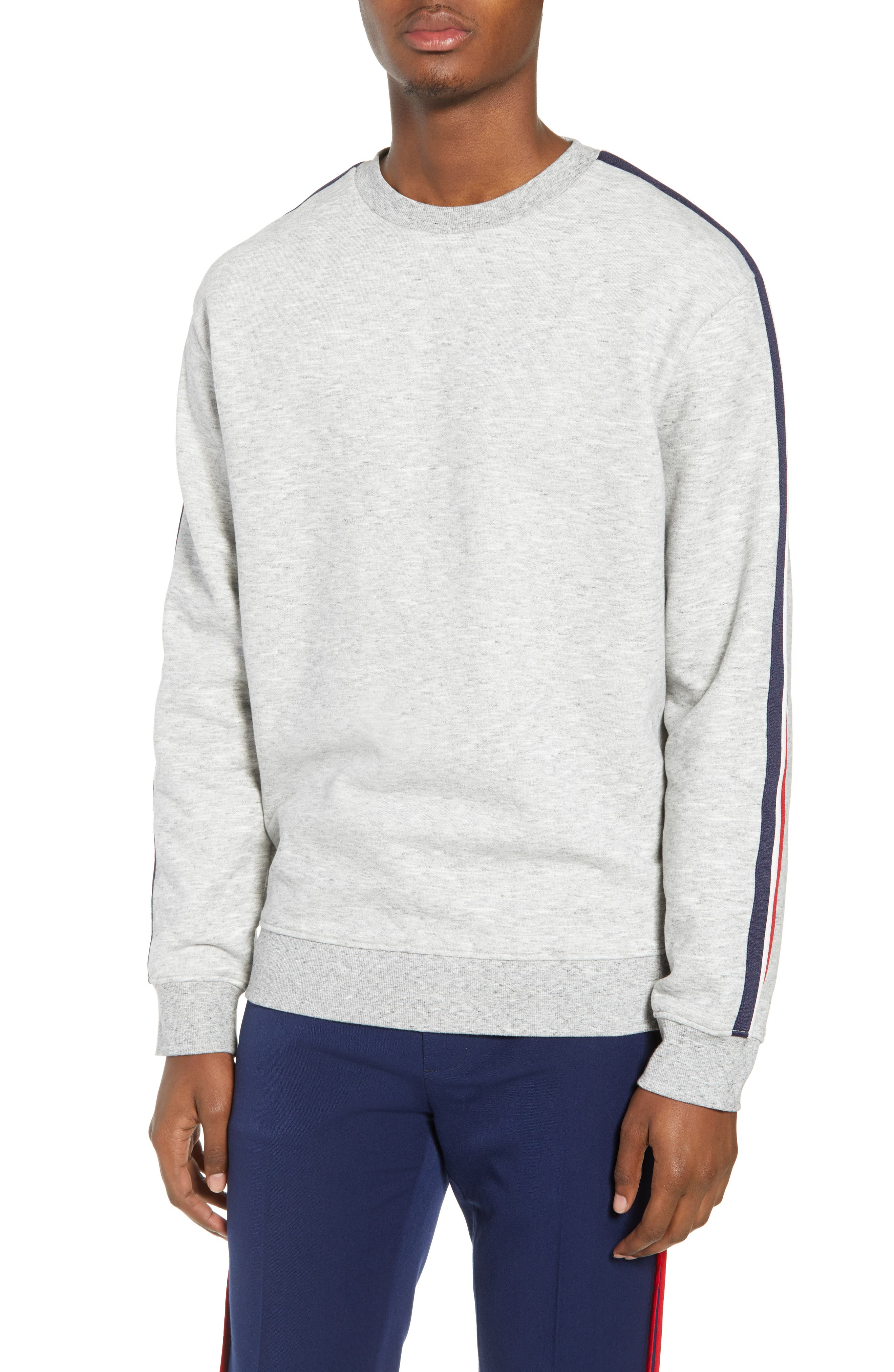 French Stripe Tape Sweatshirt,                         Main,                         color, 050