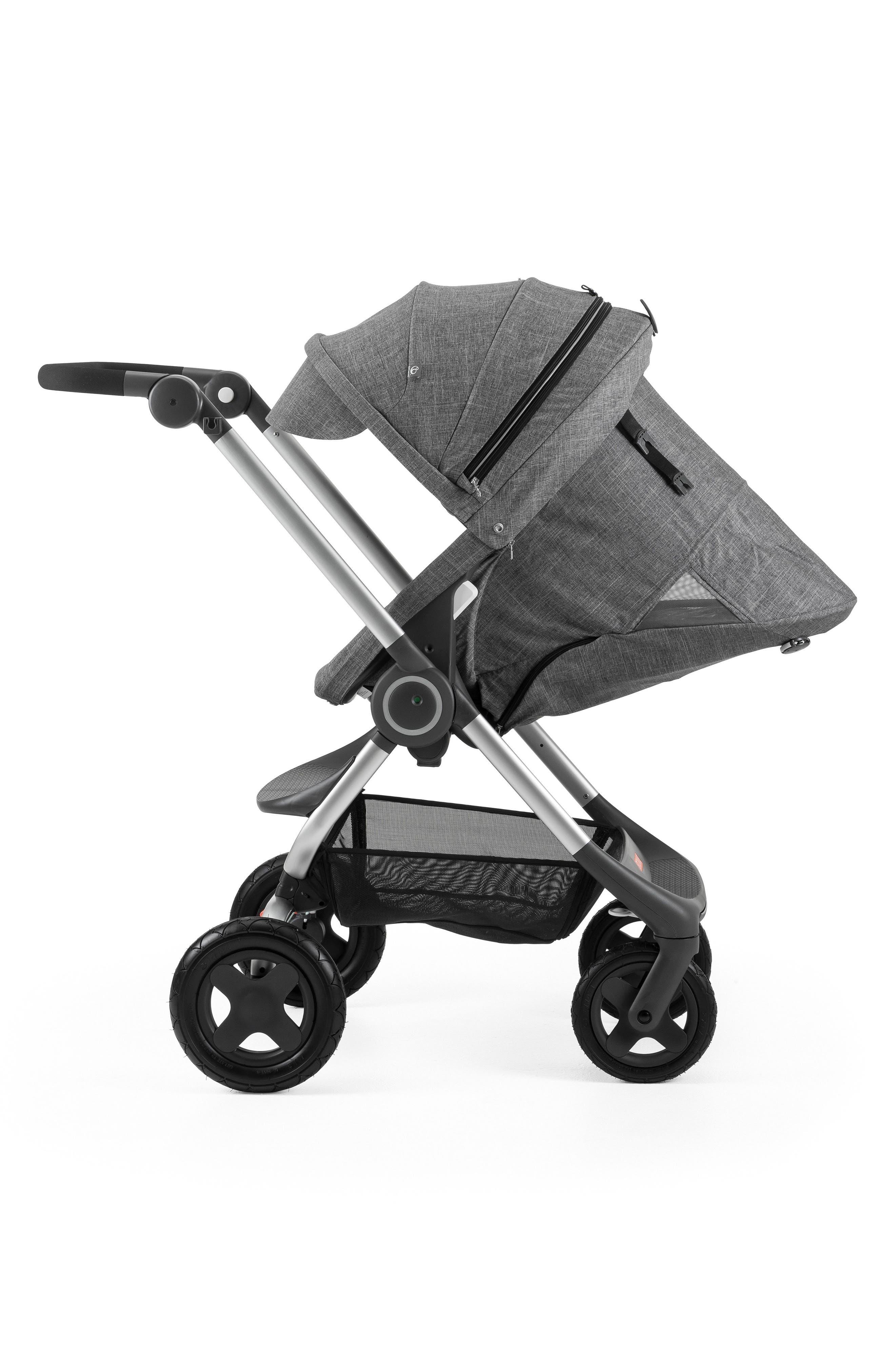 Scoot<sup>™</sup> Complete Stroller,                             Alternate thumbnail 5, color,                             BLACK MELANGE