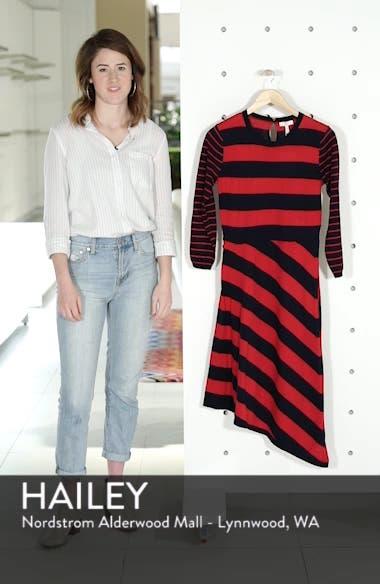 Ecedra Asymmetrical Stripe Faux Wrap Dress, sales video thumbnail