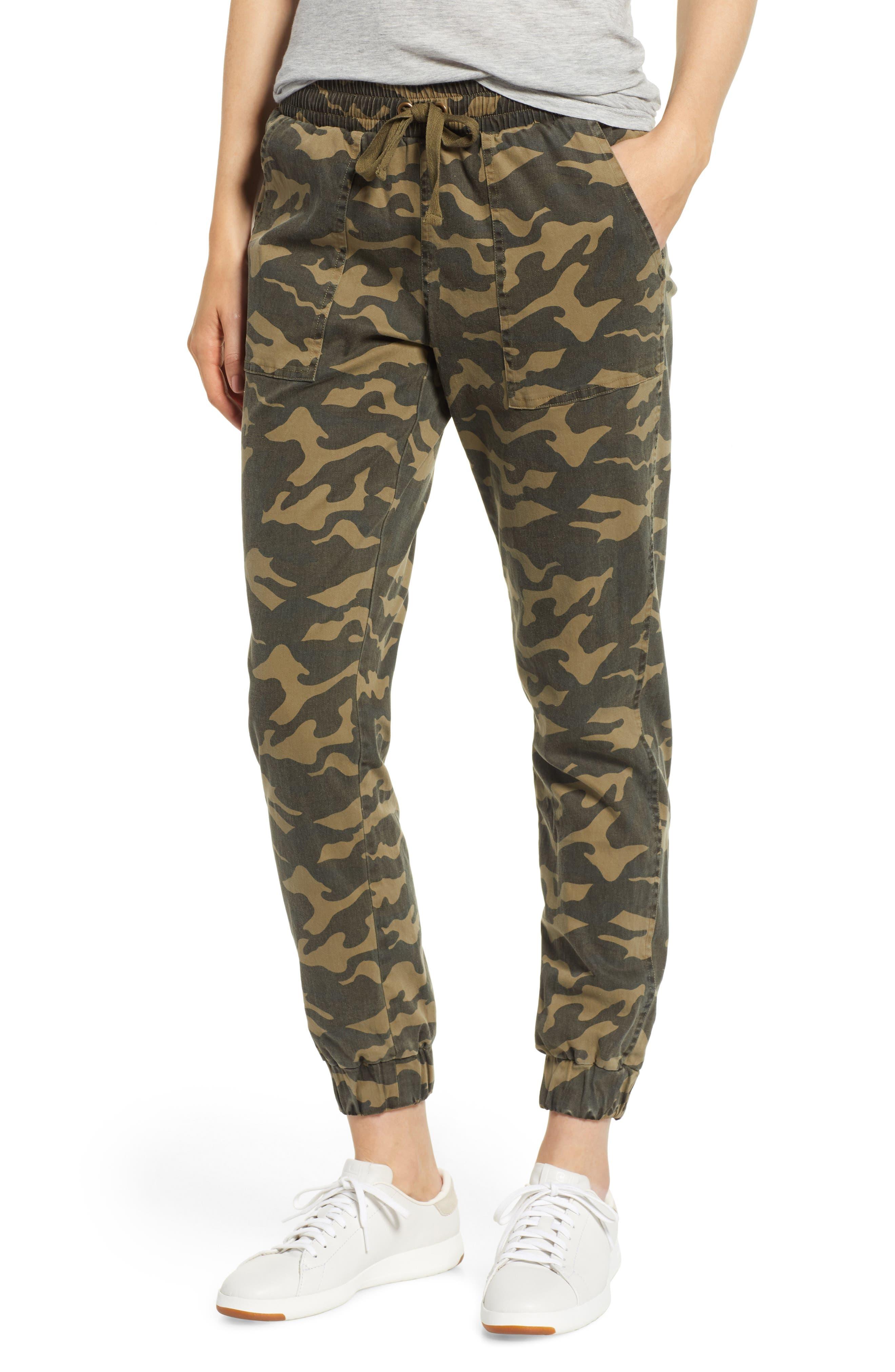 Camo Patch Pocket Jogger Stretch Cotton Pants,                         Main,                         color, 345