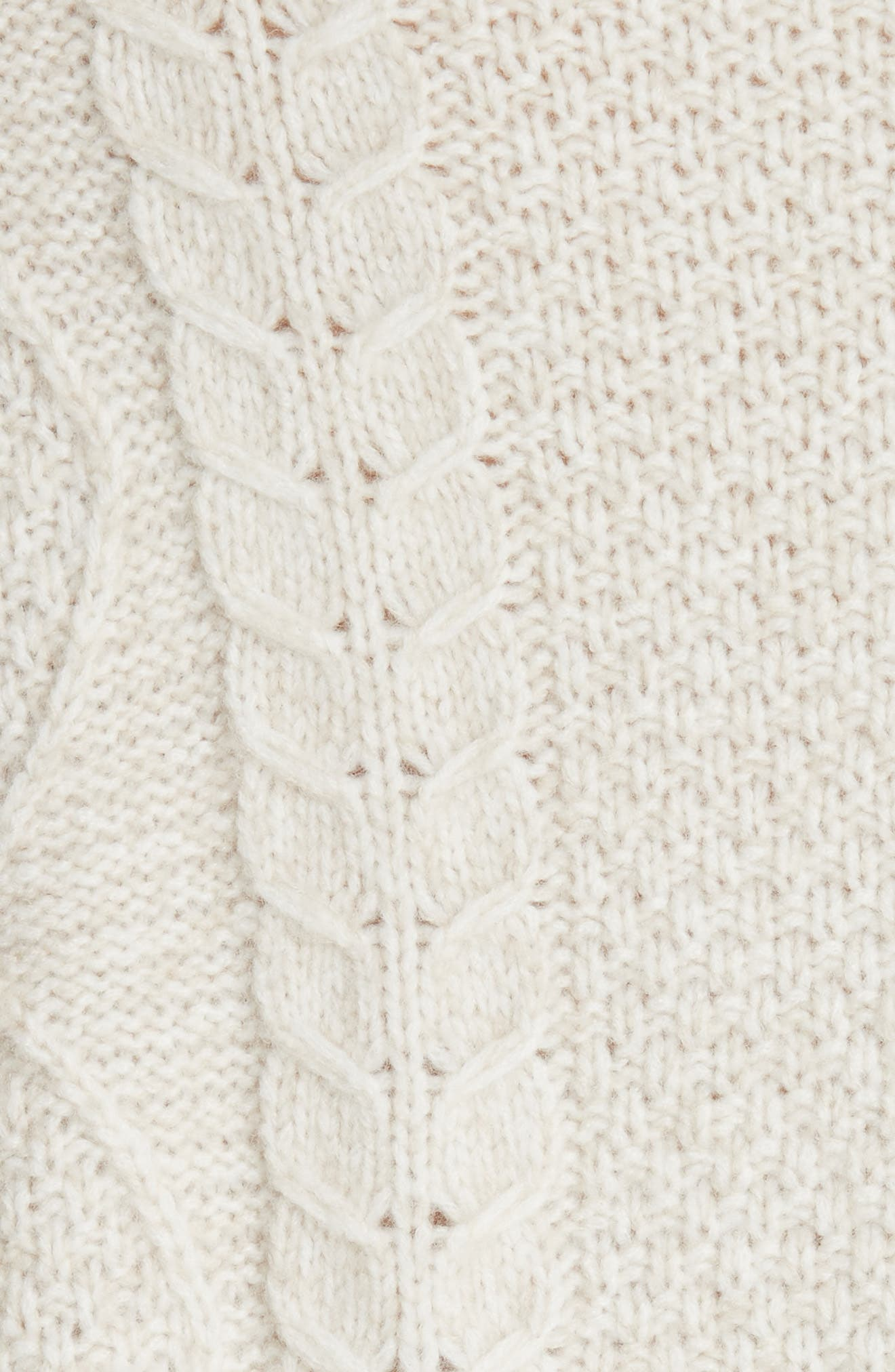Wool & Cashmere Blend Cable Knit Sweater,                             Alternate thumbnail 5, color,                             901