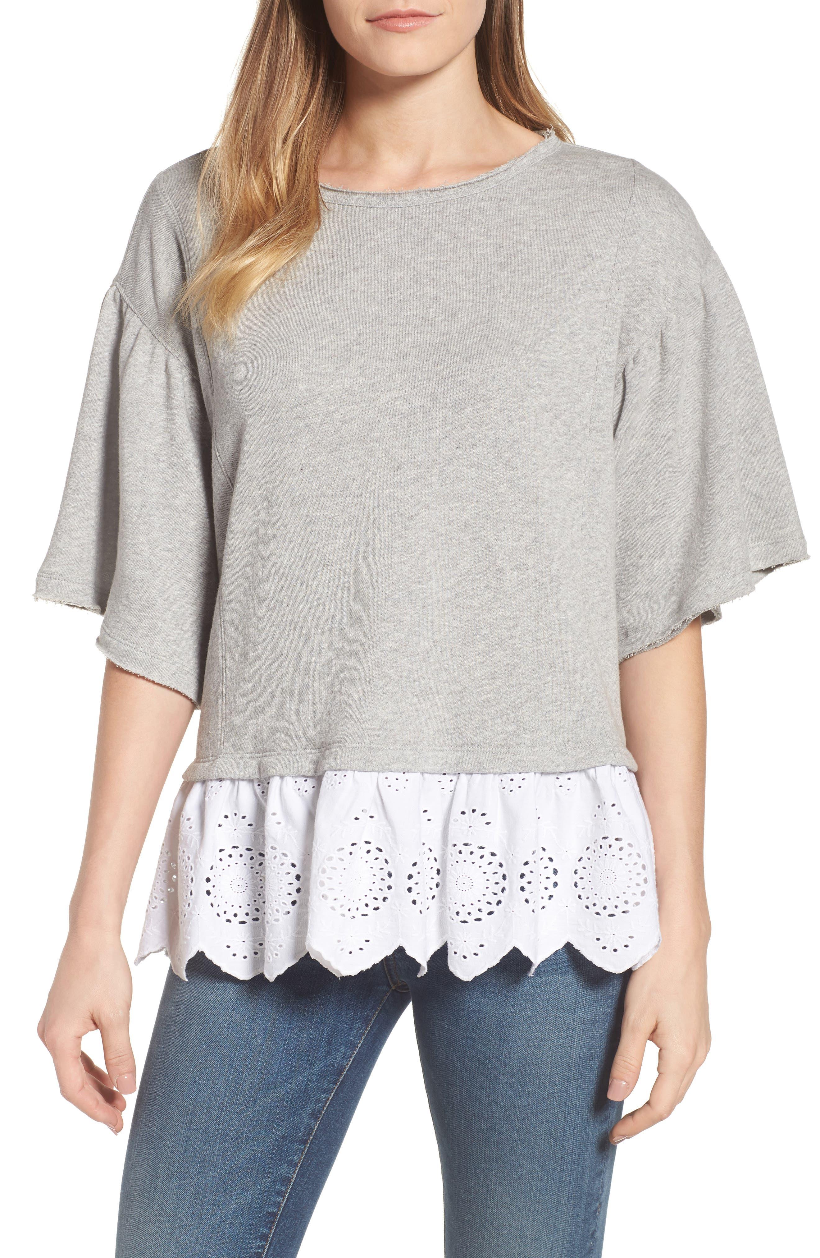 Twofer Sweatshirt,                         Main,                         color, 050