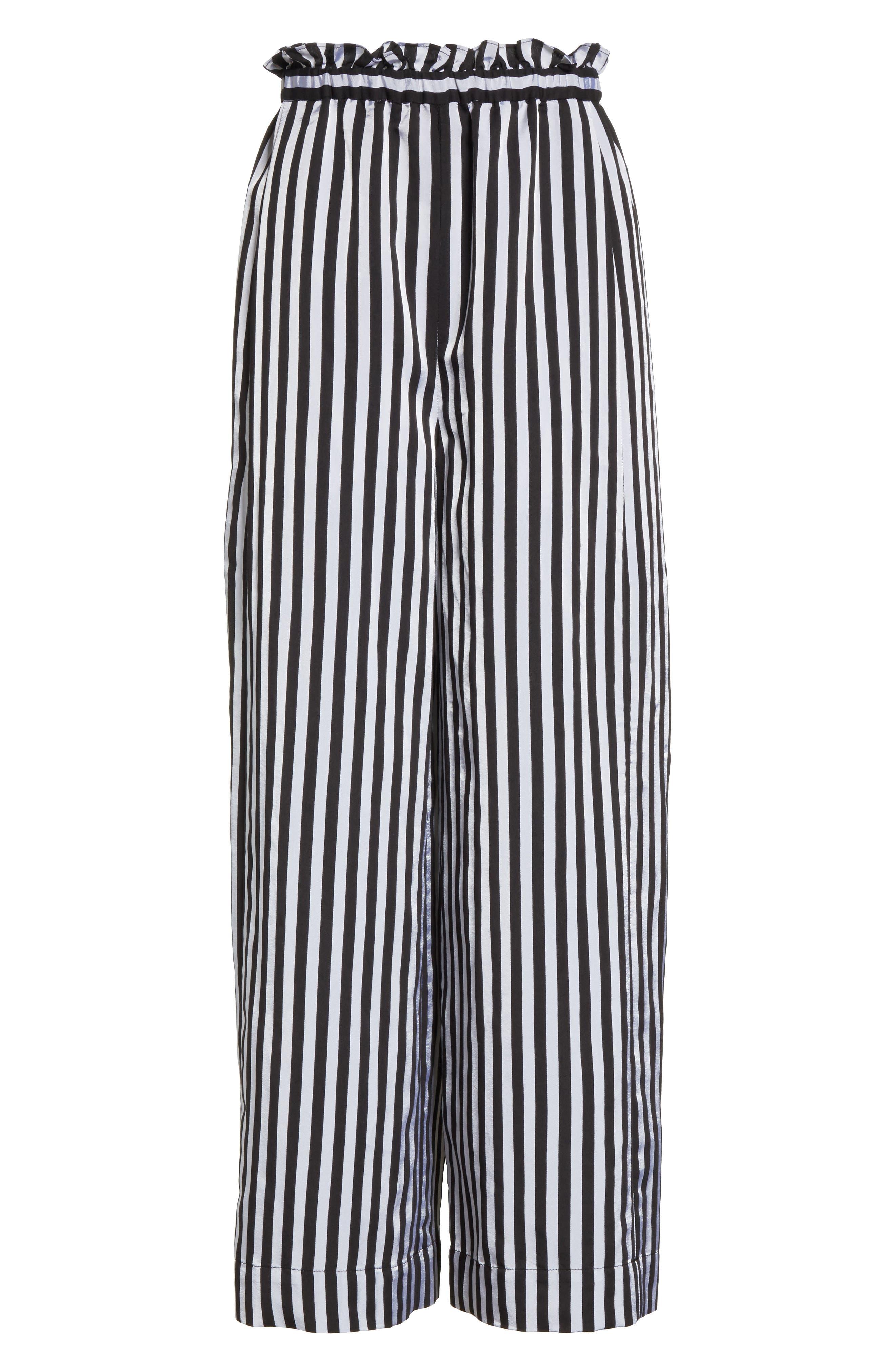 Wide Leg Crop Pants,                             Alternate thumbnail 6, color,                             001