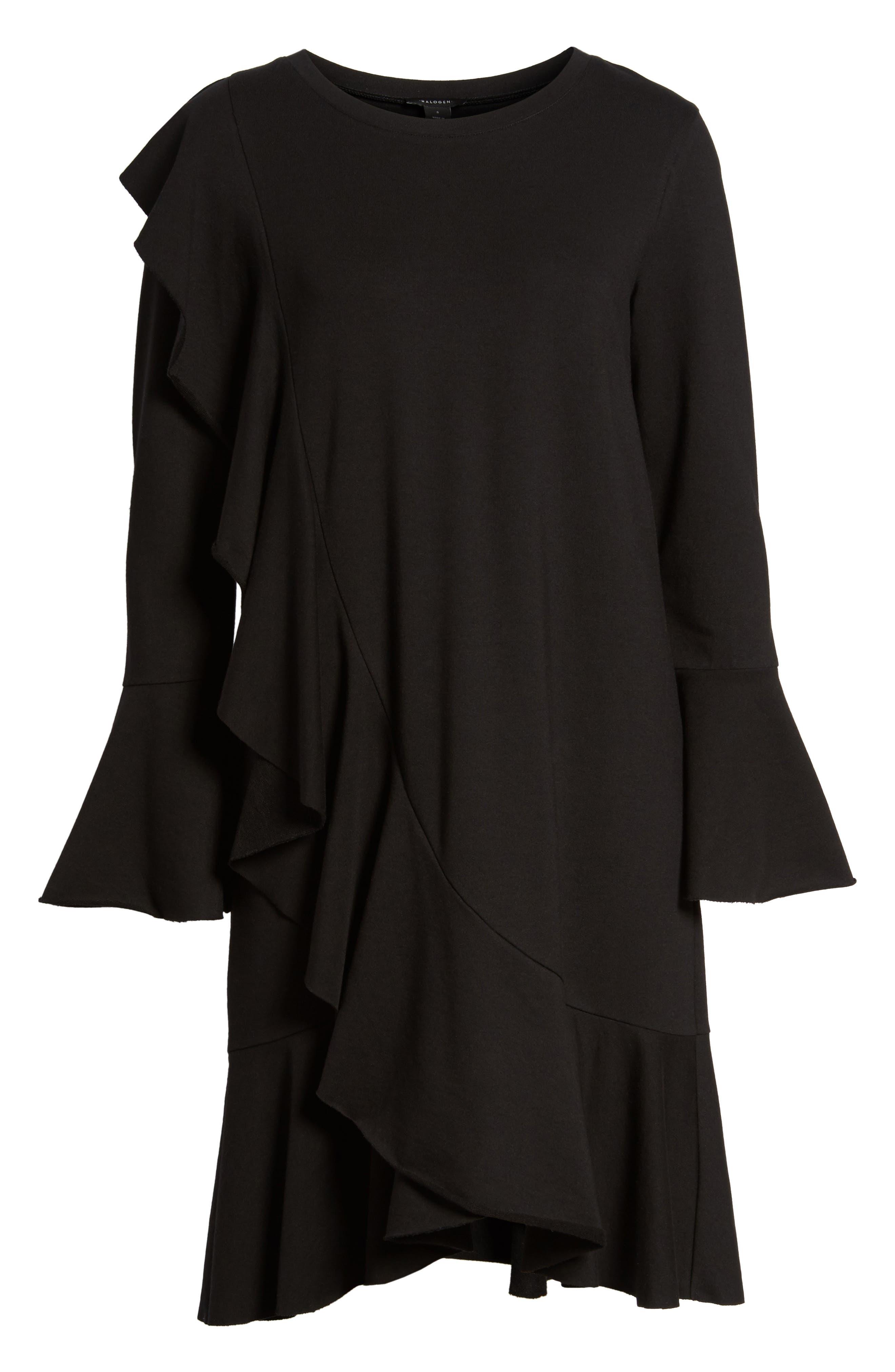Ruffle Detail Knit Dress,                             Alternate thumbnail 16, color,