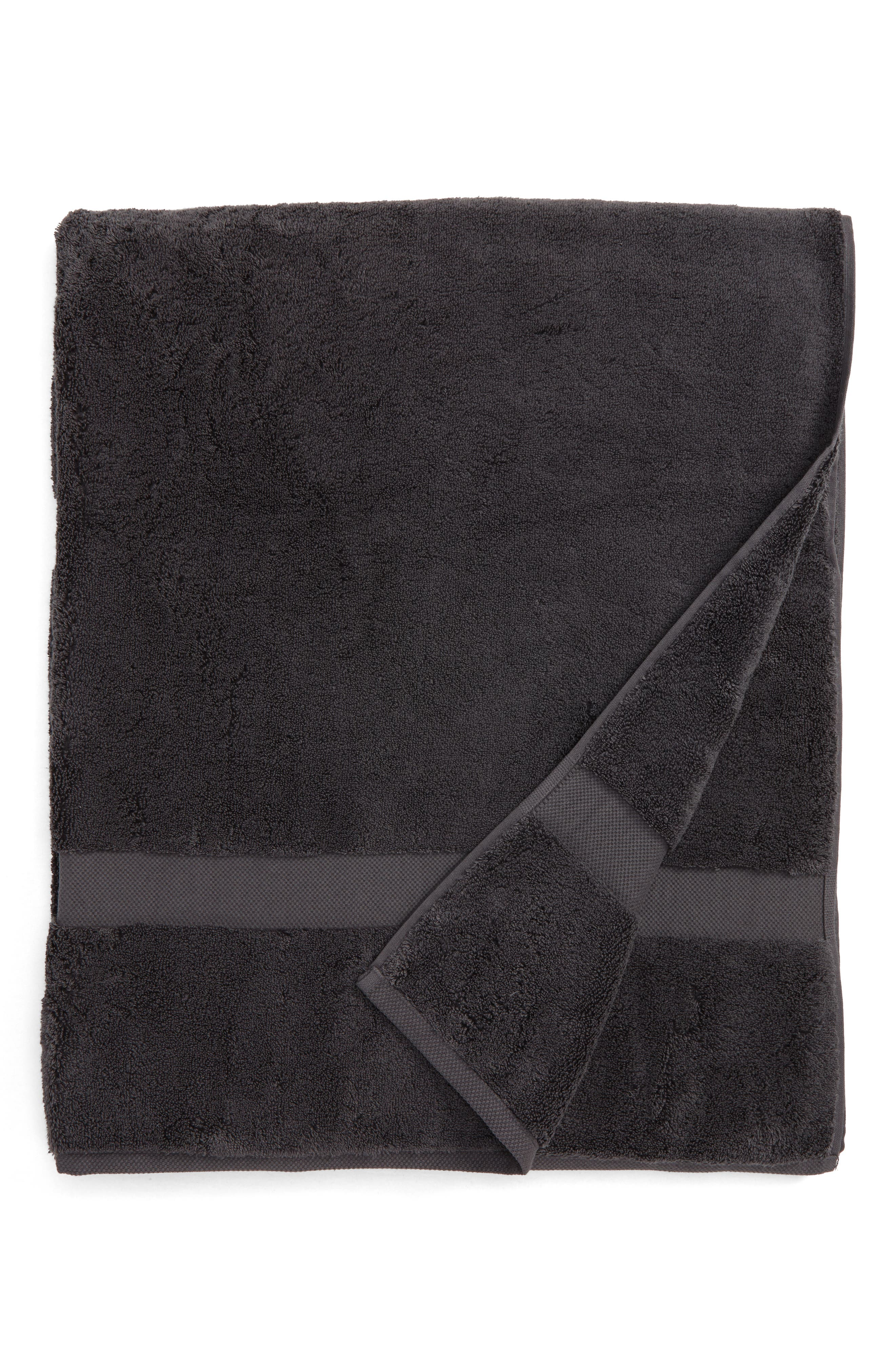 Lotus Bath Sheet,                         Main,                         color, CHARCOAL