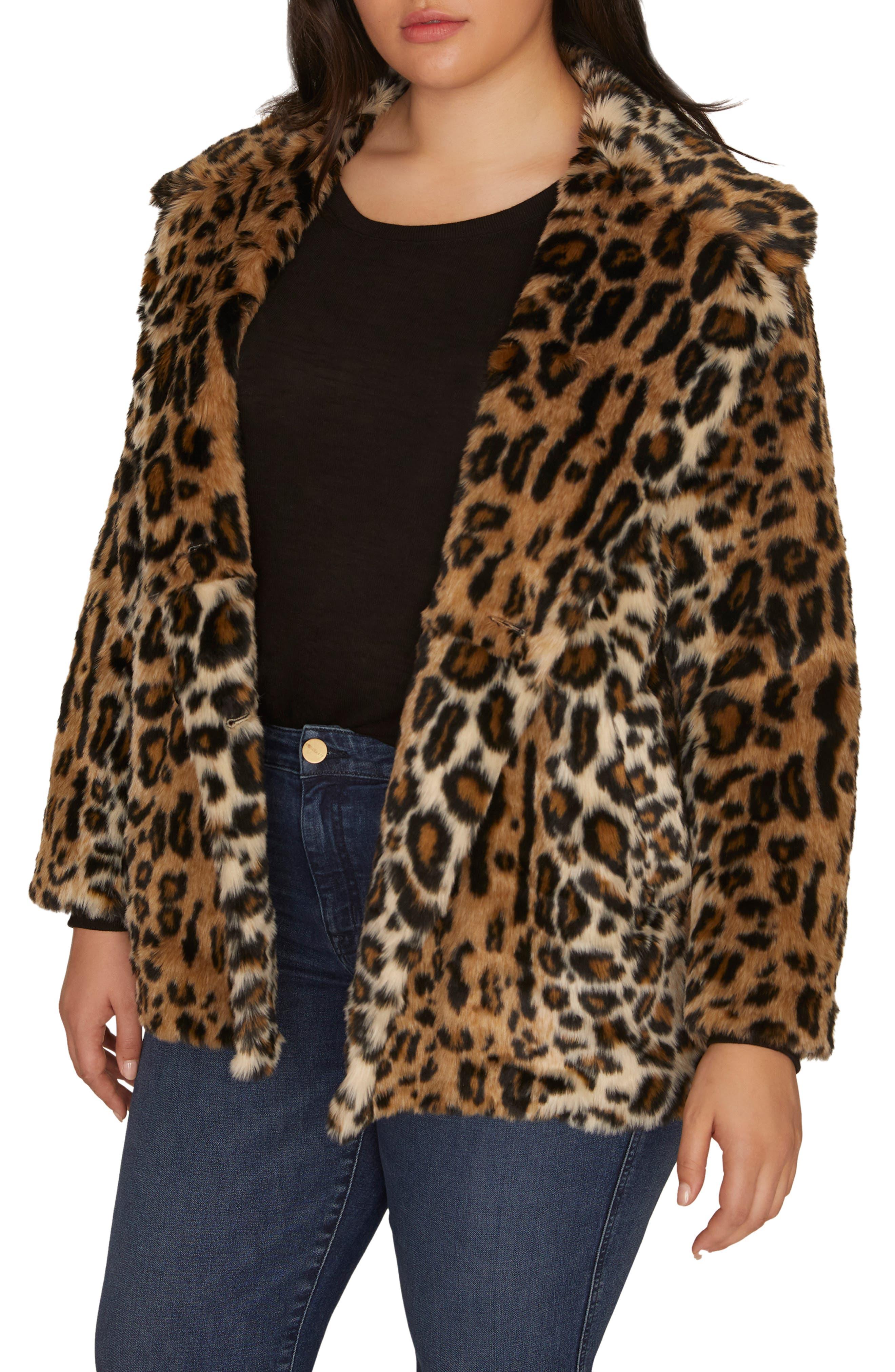 Seeing Spots Faux Fur Coat,                             Alternate thumbnail 3, color,                             200
