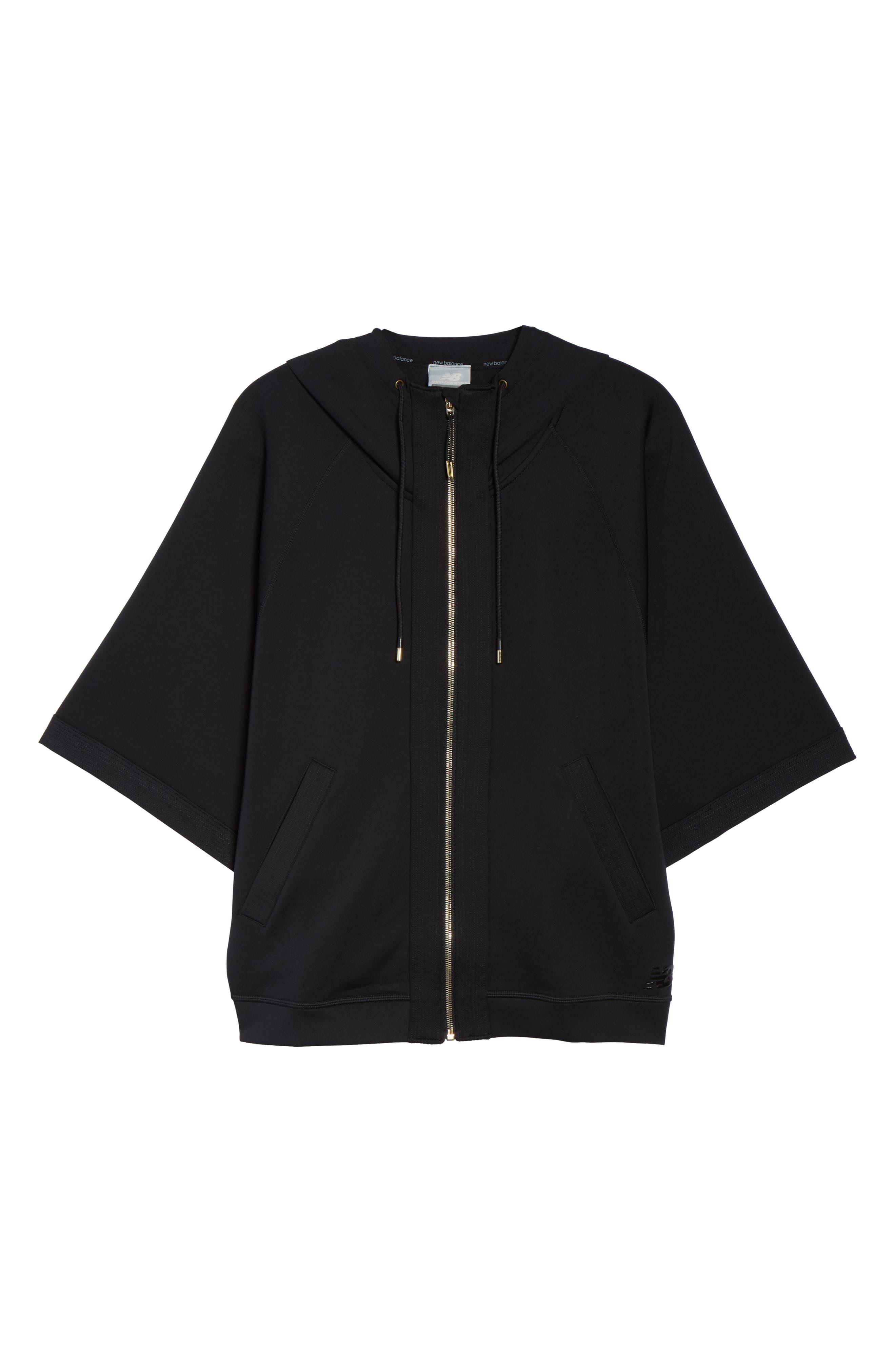Captivate Kimono Sweatshirt,                             Alternate thumbnail 7, color,                             BLACK