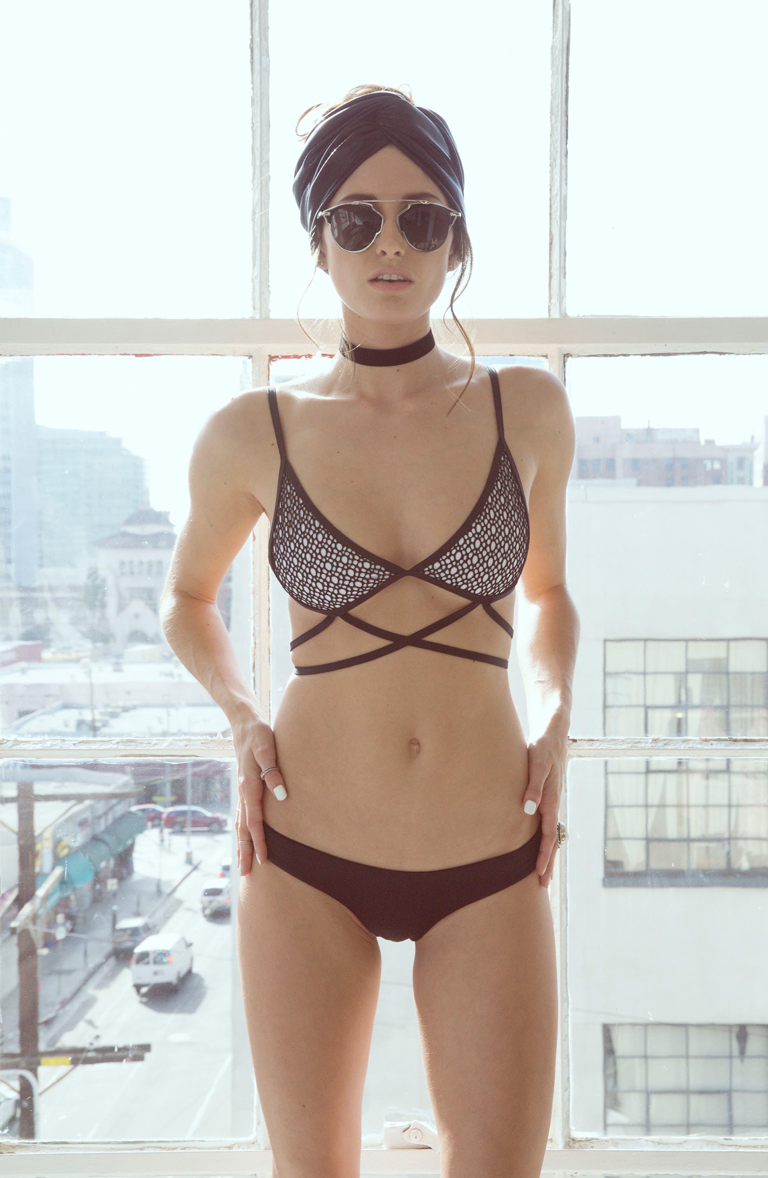 Rosita Bralette Bikini Top,                             Alternate thumbnail 6, color,                             900