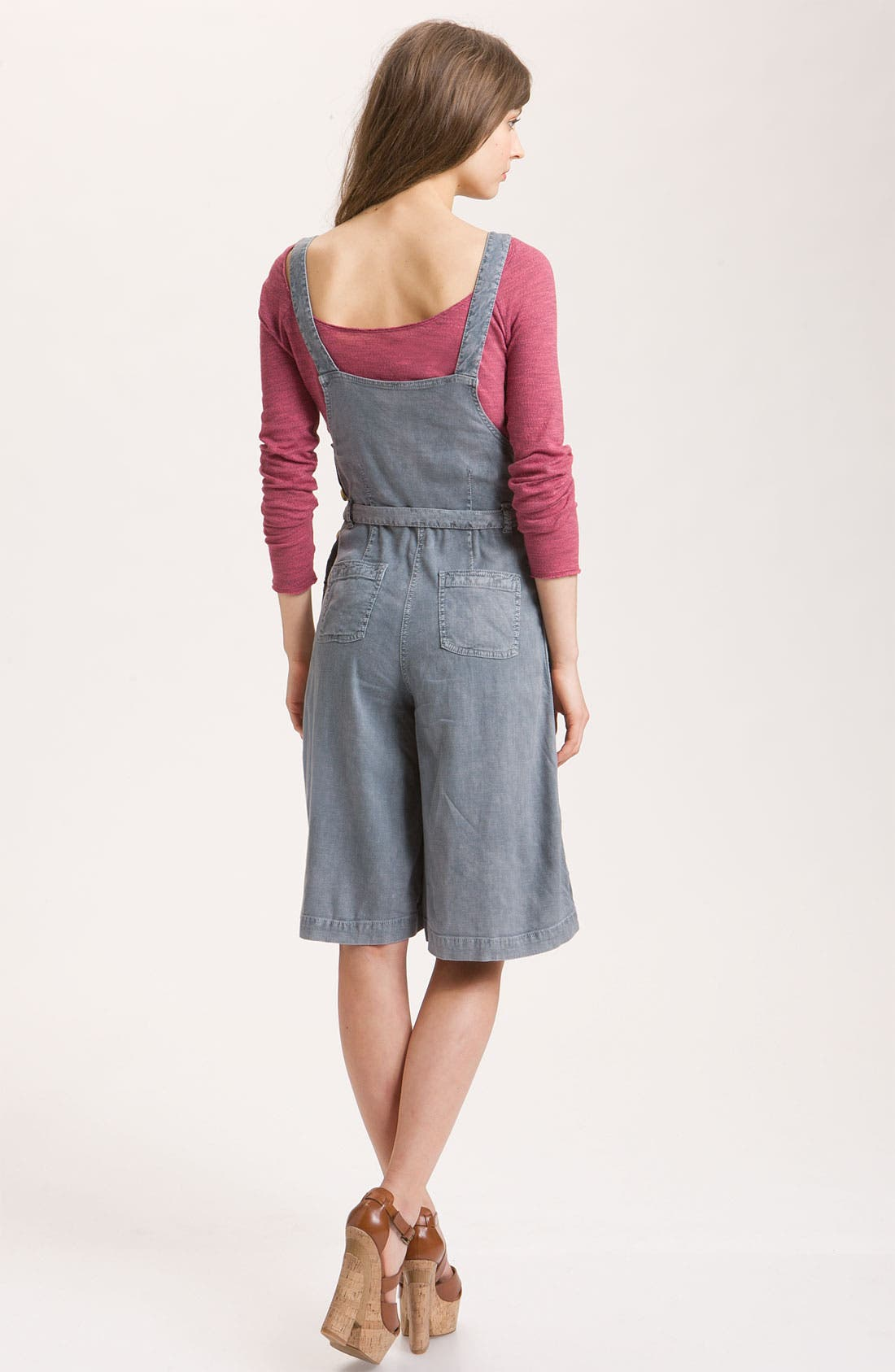 FREE PEOPLE,                             Linen Chambray Gaucho Overalls,                             Alternate thumbnail 3, color,                             425