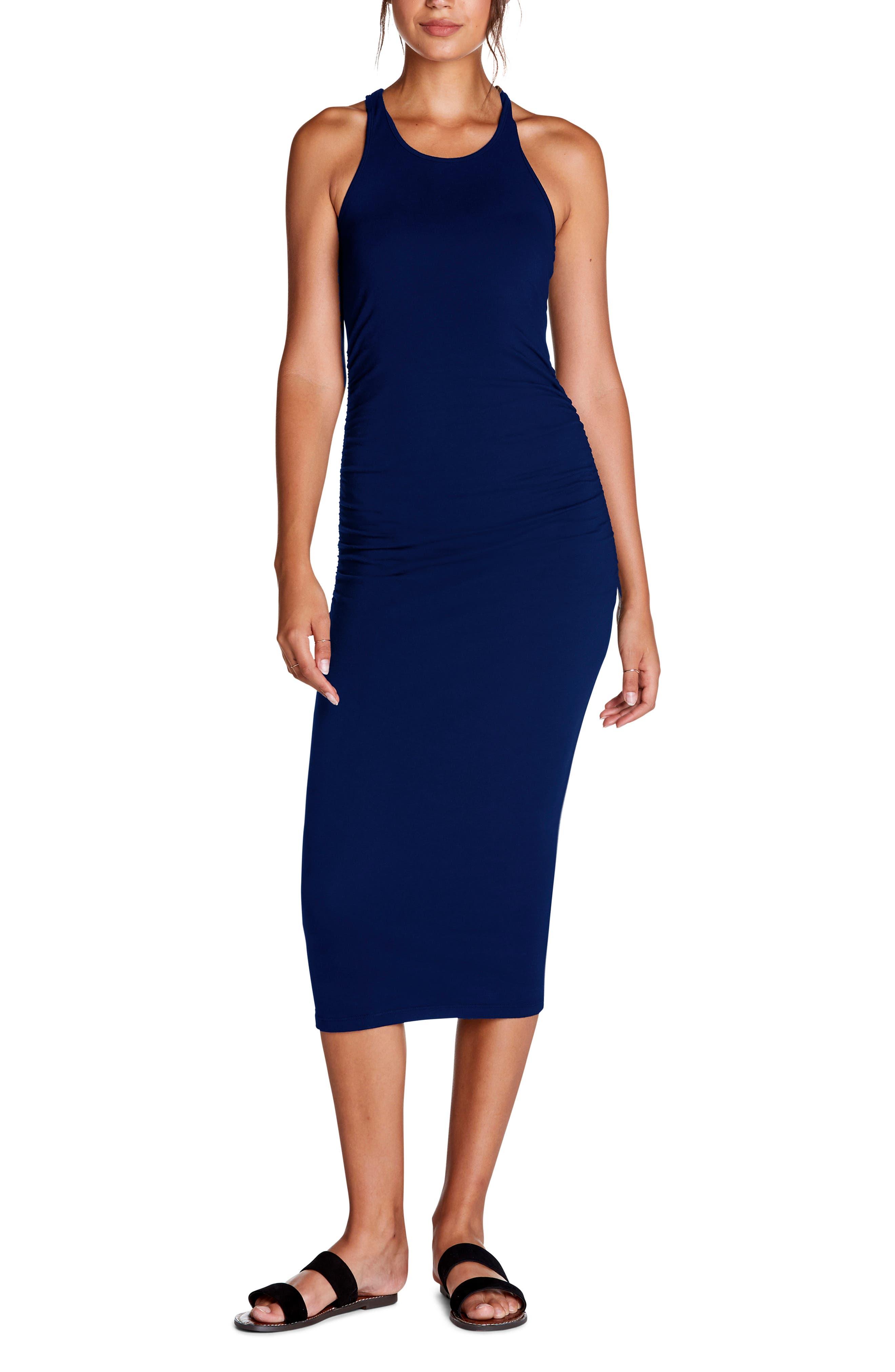 Michael Stars Racerback Midi Dress, Blue