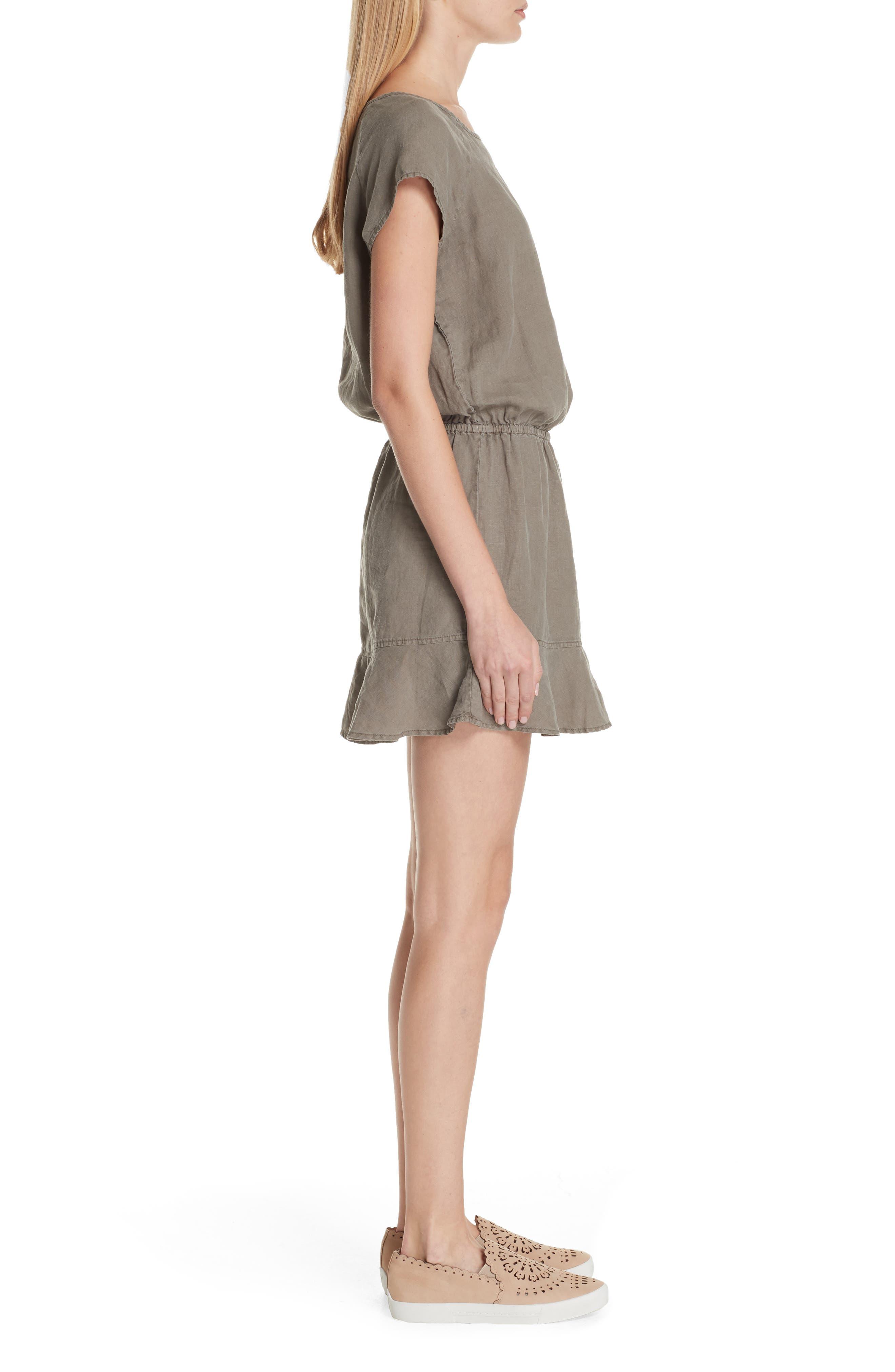 Quora Ruffle Linen Dress,                             Alternate thumbnail 6, color,