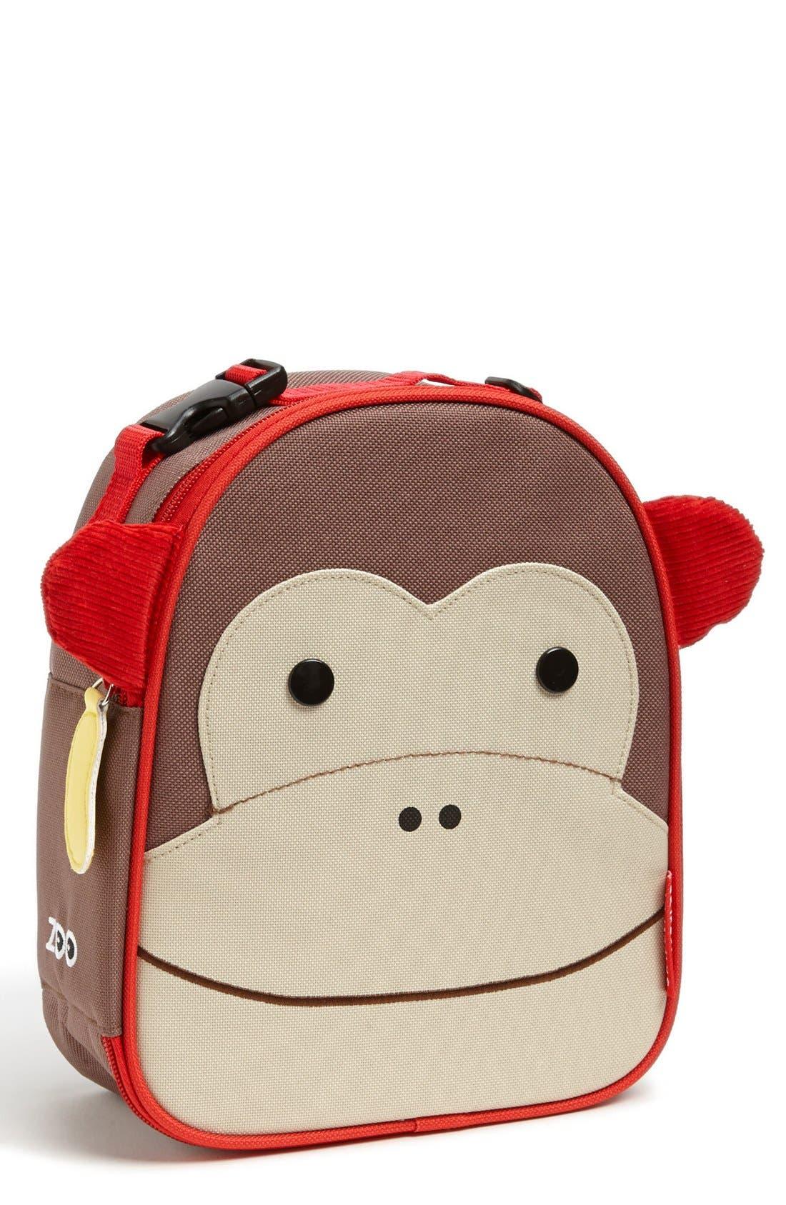 Zoo Lunch Bag,                             Main thumbnail 1, color,                             MONKEY