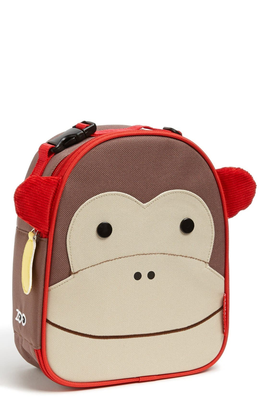 Zoo Lunch Bag,                         Main,                         color, MONKEY