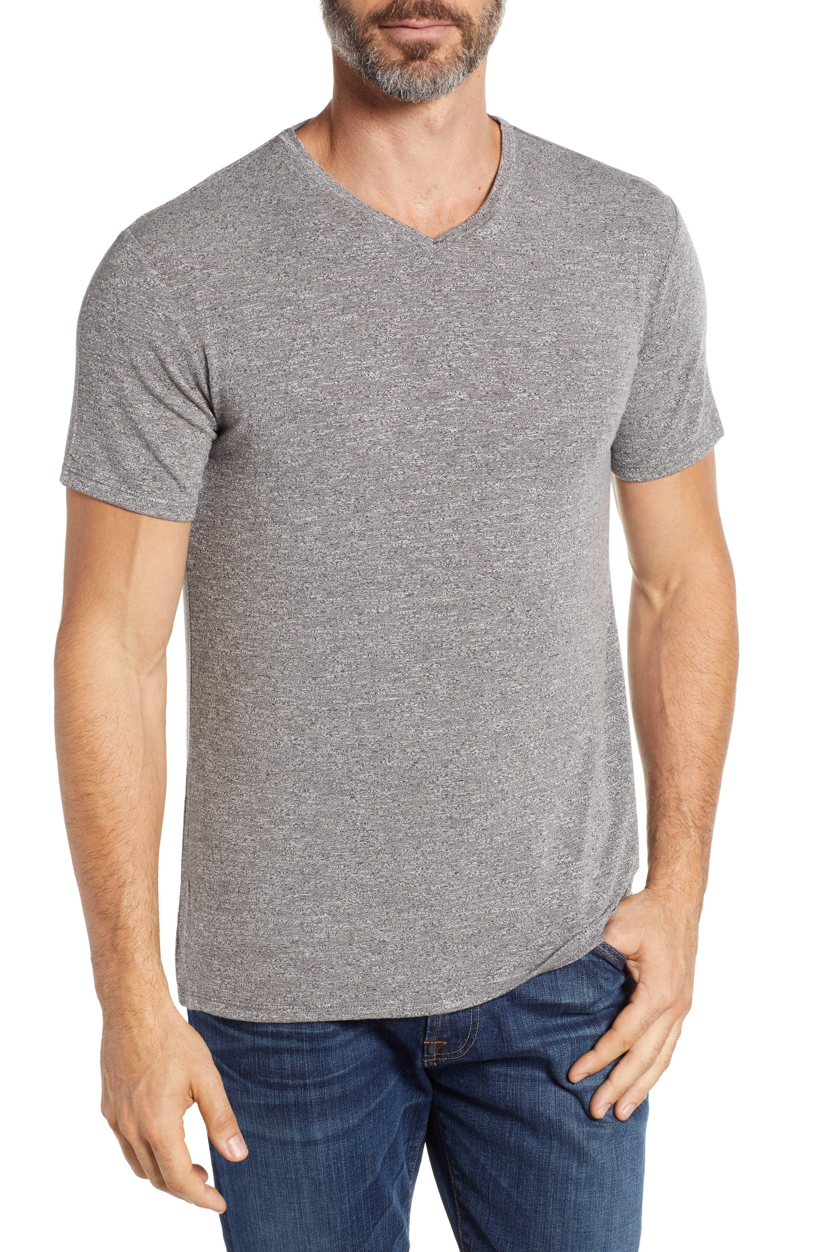 V-Neck T-Shirt, Main, color, GREY