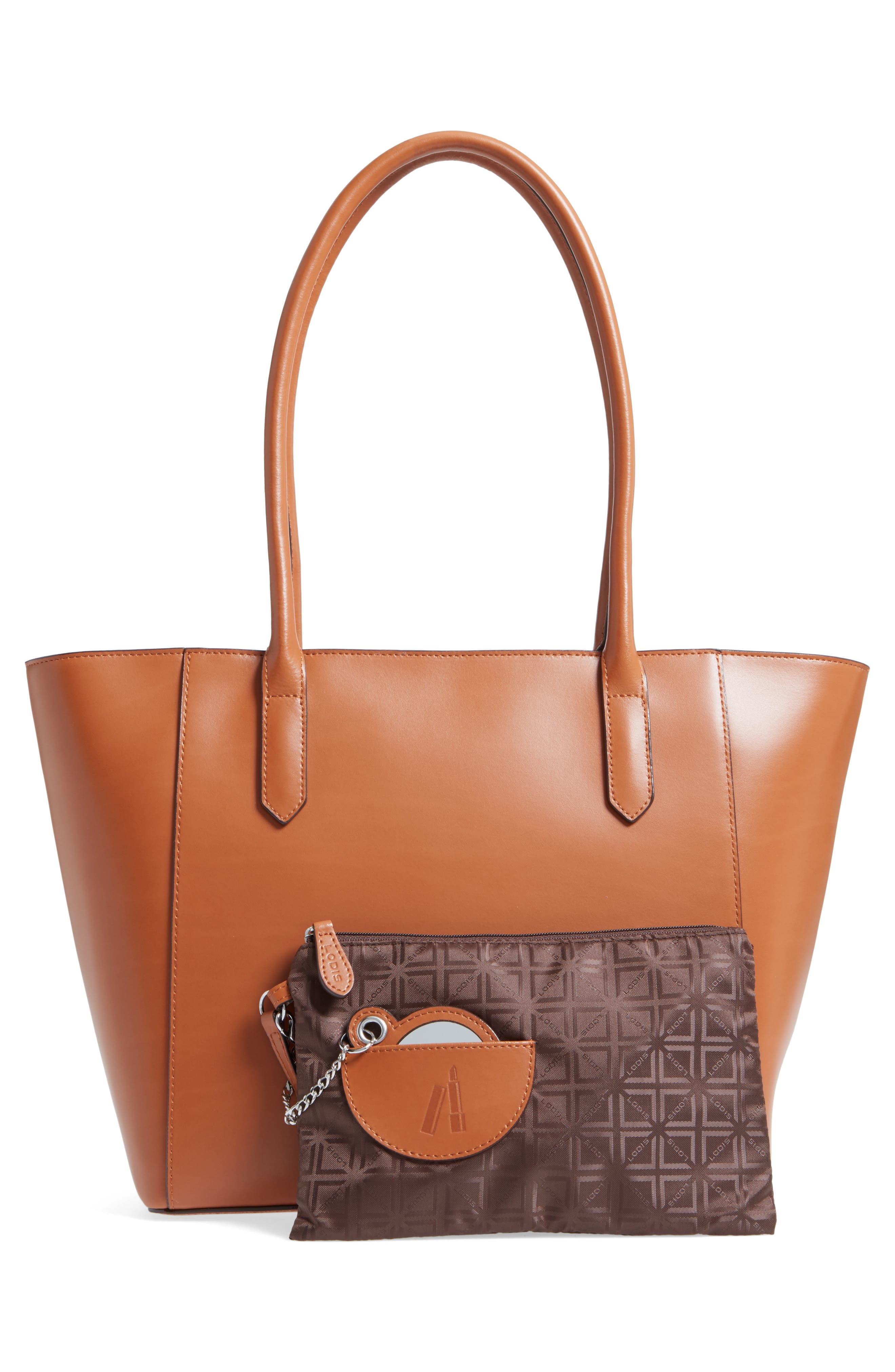 Audrey Under Lock & Key - Medium Margaret RFID Leather Tote with Zip Pouch,                             Alternate thumbnail 10, color,