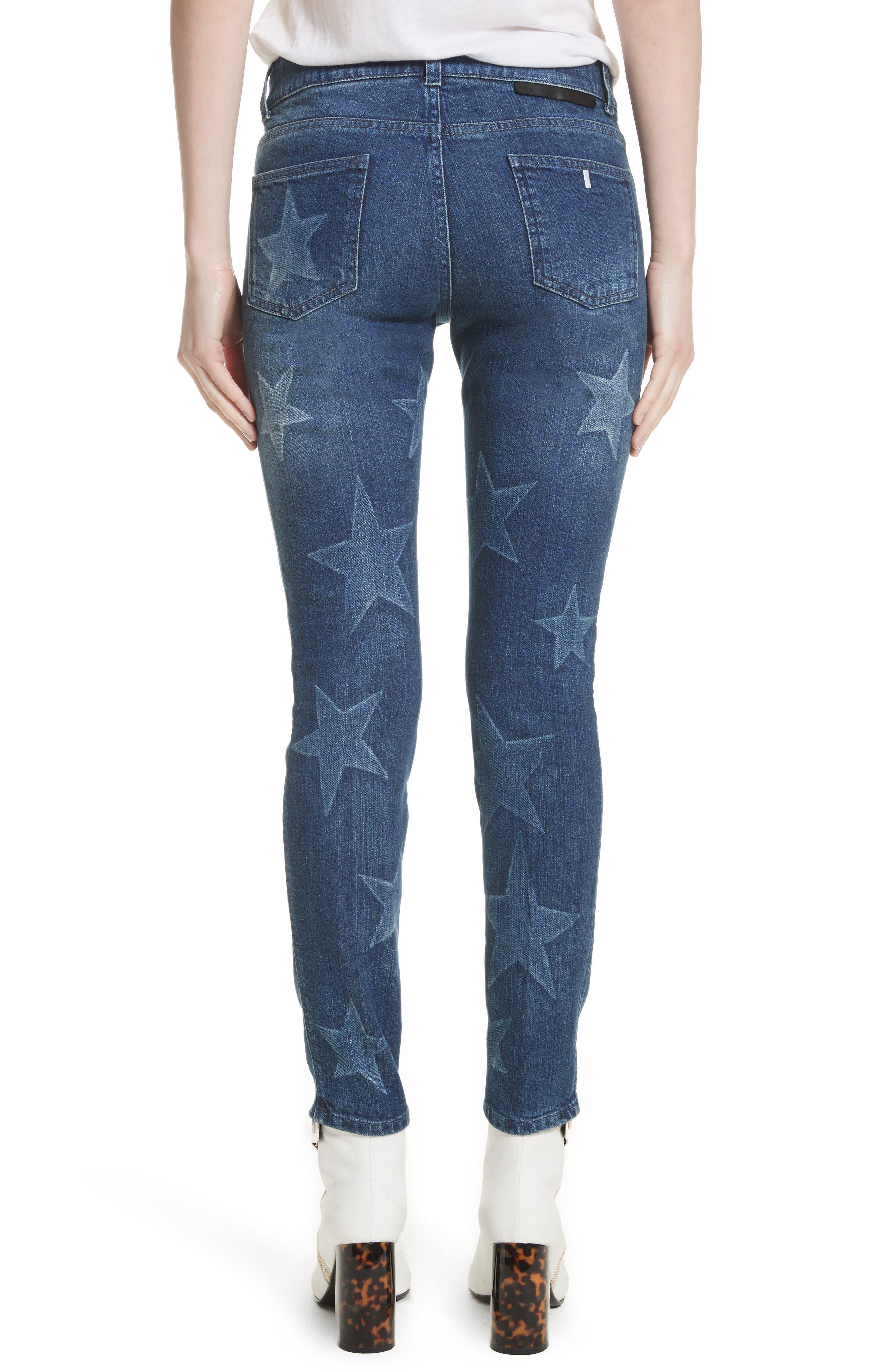 Skinny Ankle Grazer Star Jeans,                             Alternate thumbnail 2, color,                             430