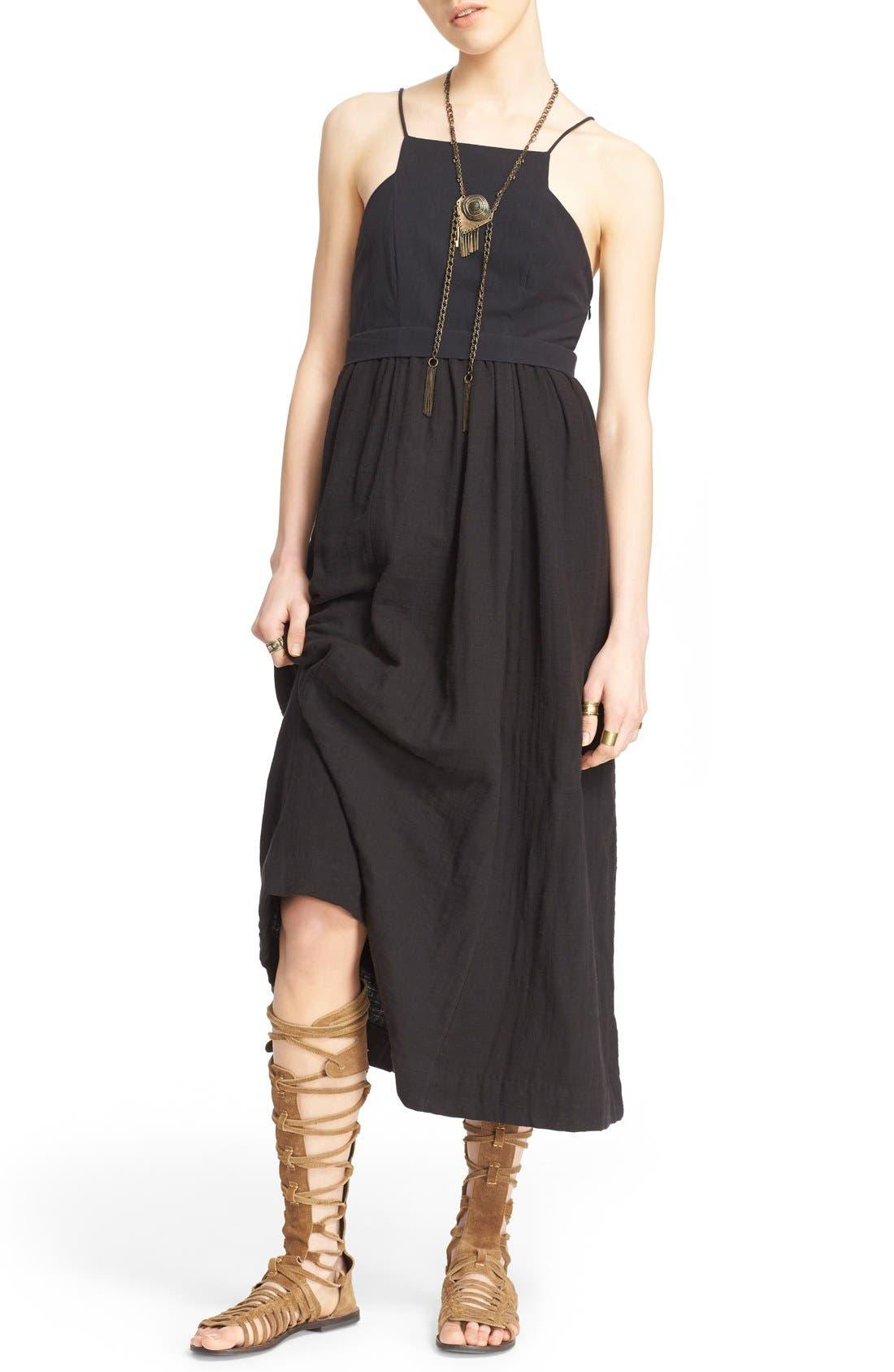 'Ojai' Cotton Midi Dress,                             Main thumbnail 1, color,                             001
