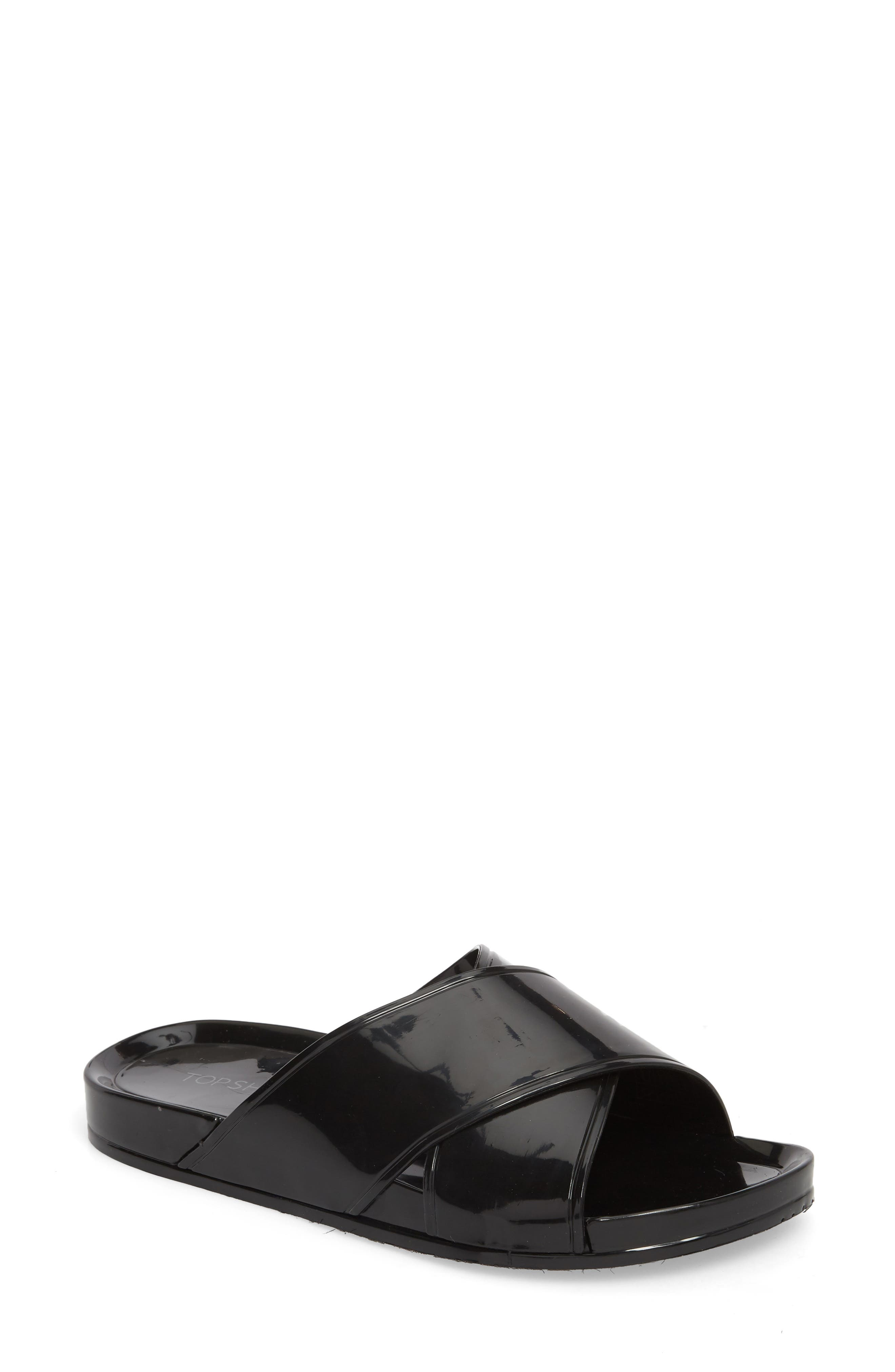 Roxy Jelly Slide Sandal,                         Main,                         color, 001