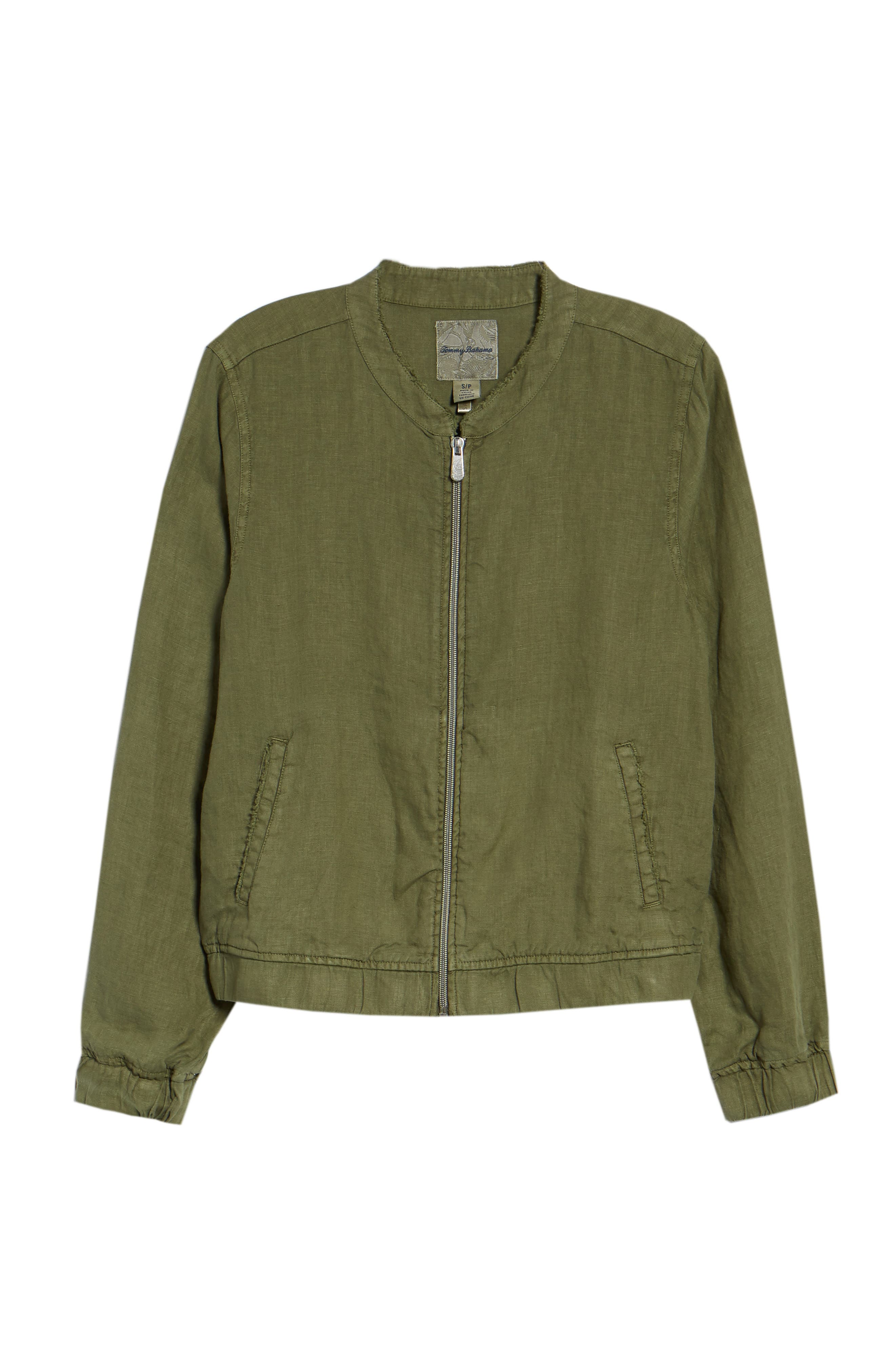 Linen Bomber Jacket,                             Alternate thumbnail 6, color,                             300