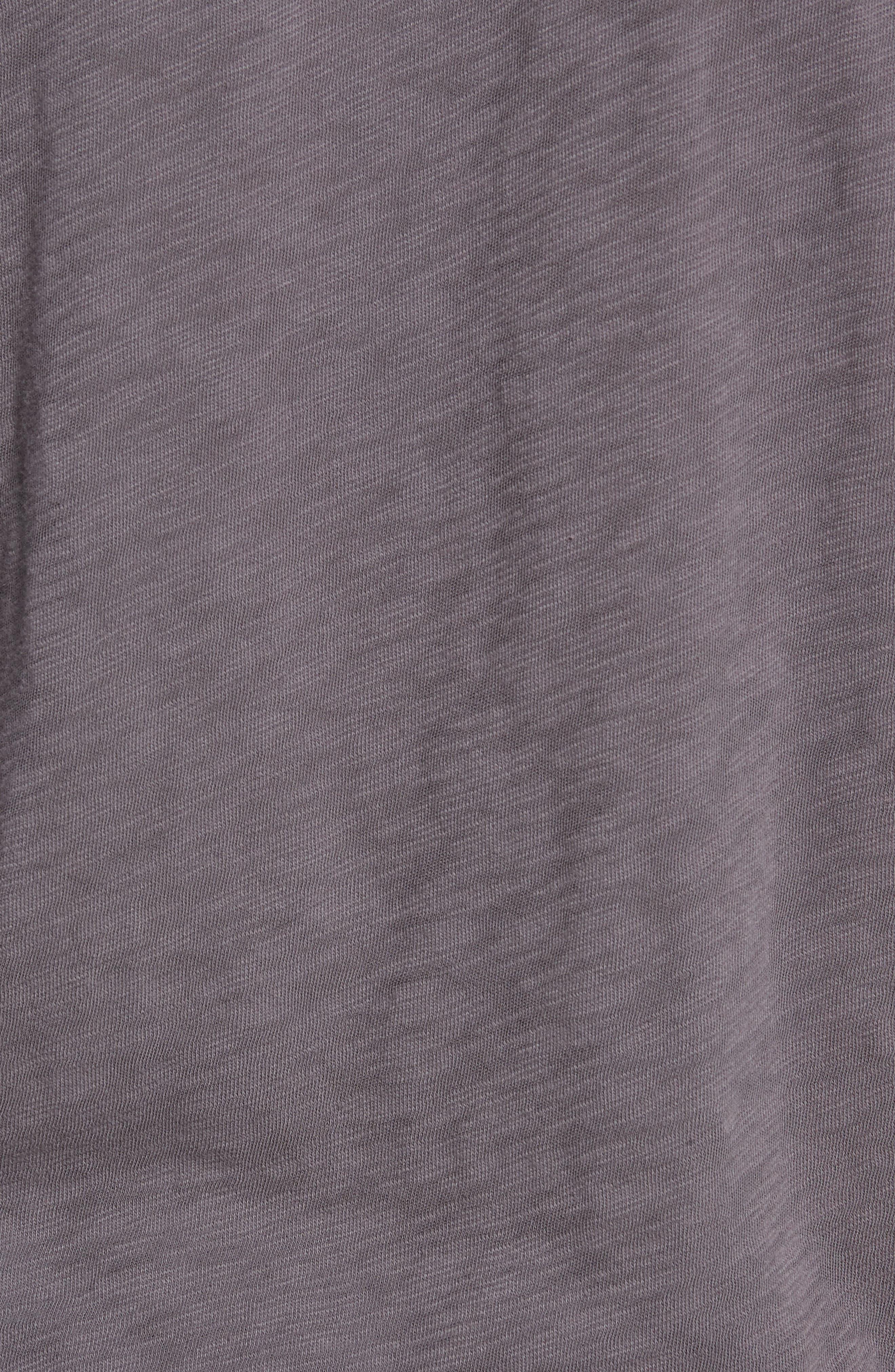 Crewneck T-Shirt,                             Alternate thumbnail 5, color,                             CHARCOAL