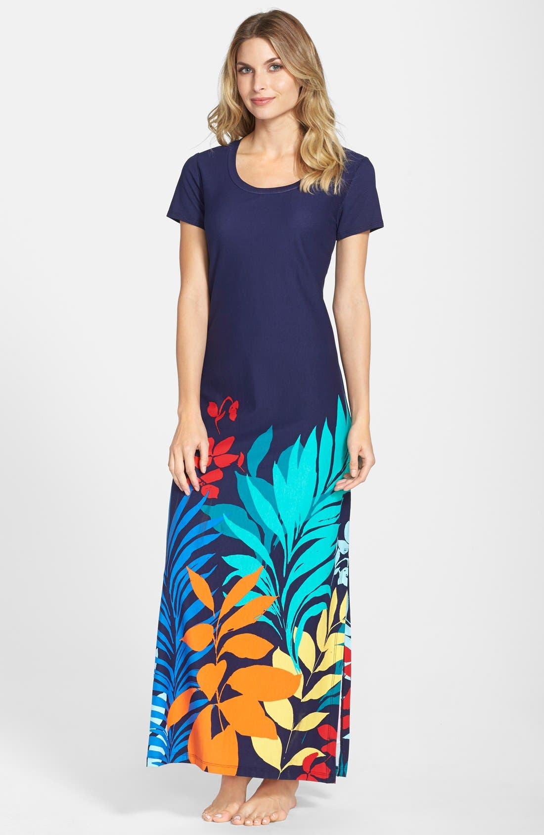 TOMMY BAHAMA,                             'Tropical Leaf' Maxi Dress,                             Main thumbnail 1, color,                             400