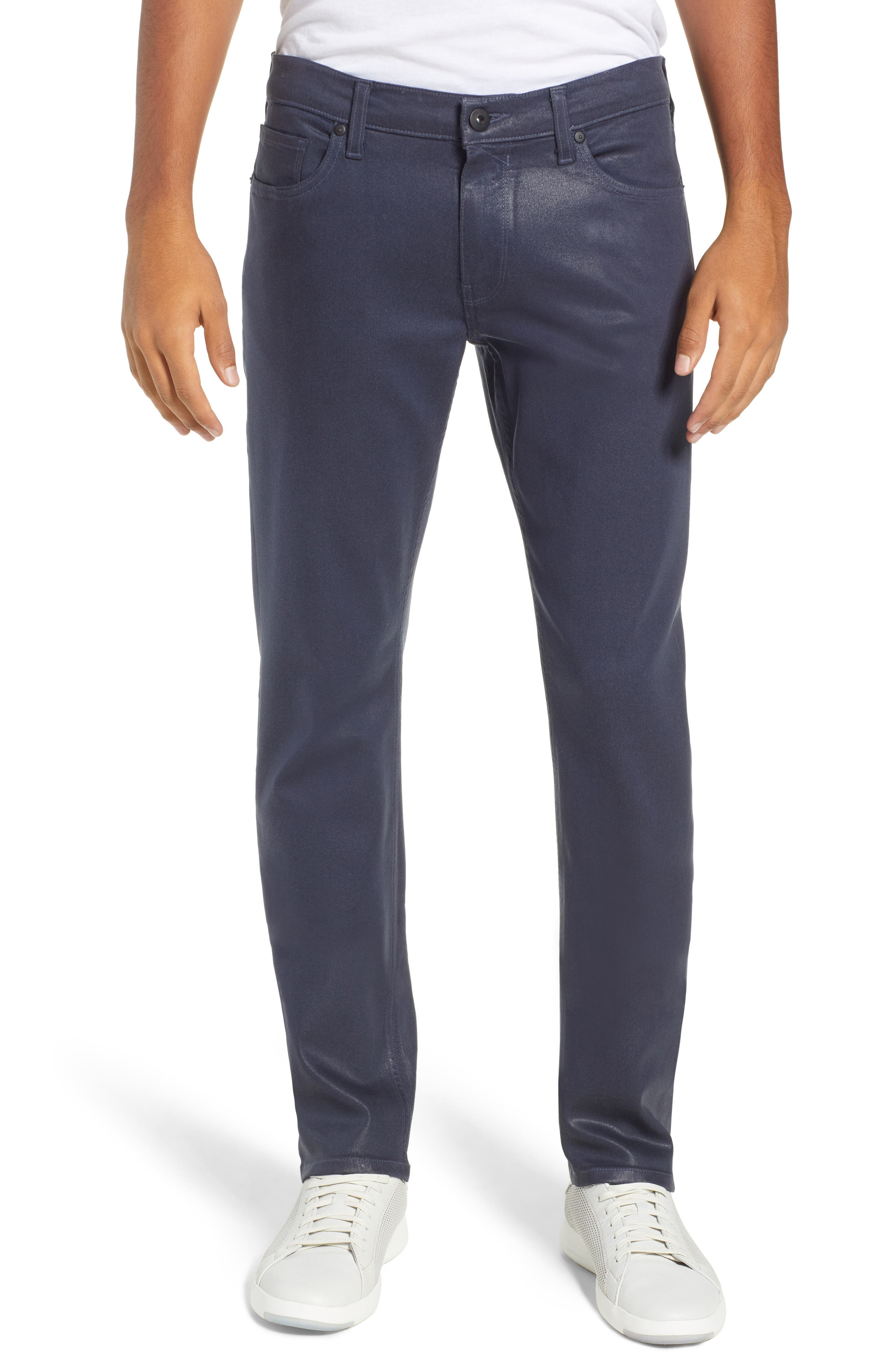Transcend - Lennox Slim Fit Jeans,                         Main,                         color, NIGHTFALL COATED