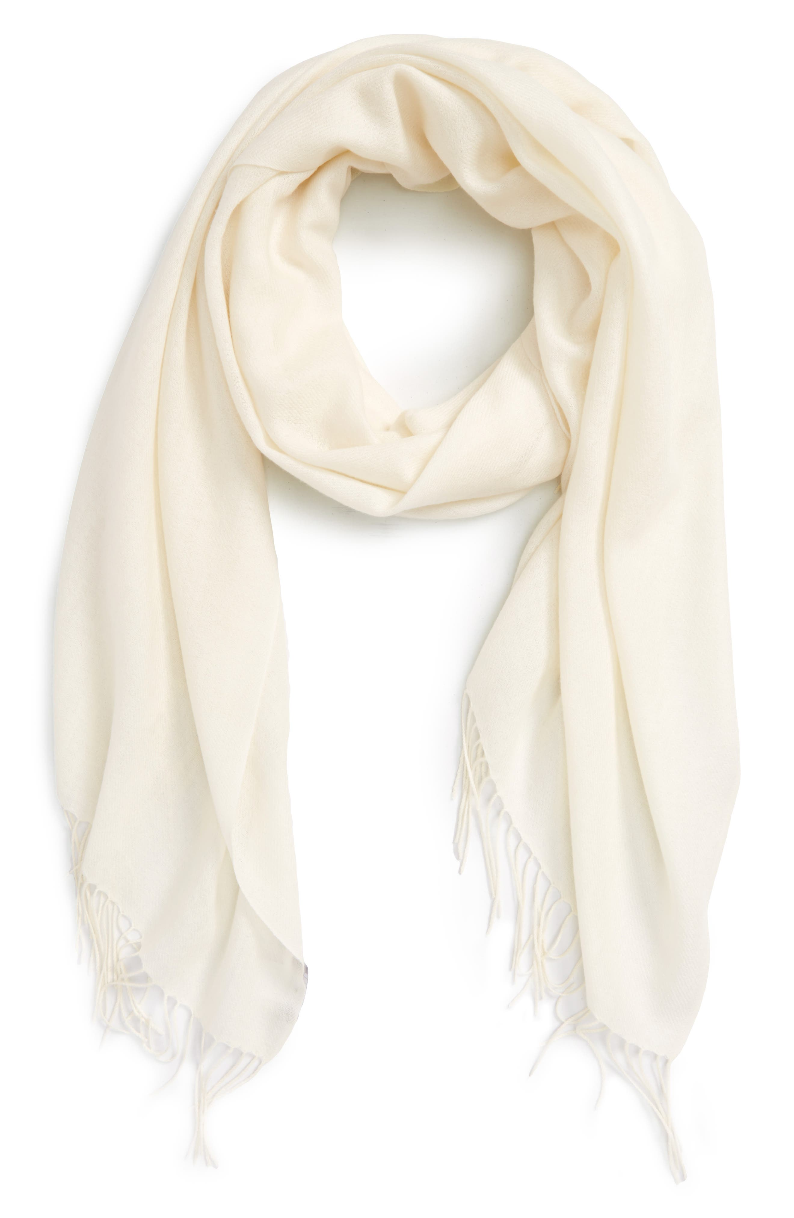 Tissue Weight Wool & Cashmere Scarf,                             Alternate thumbnail 140, color,