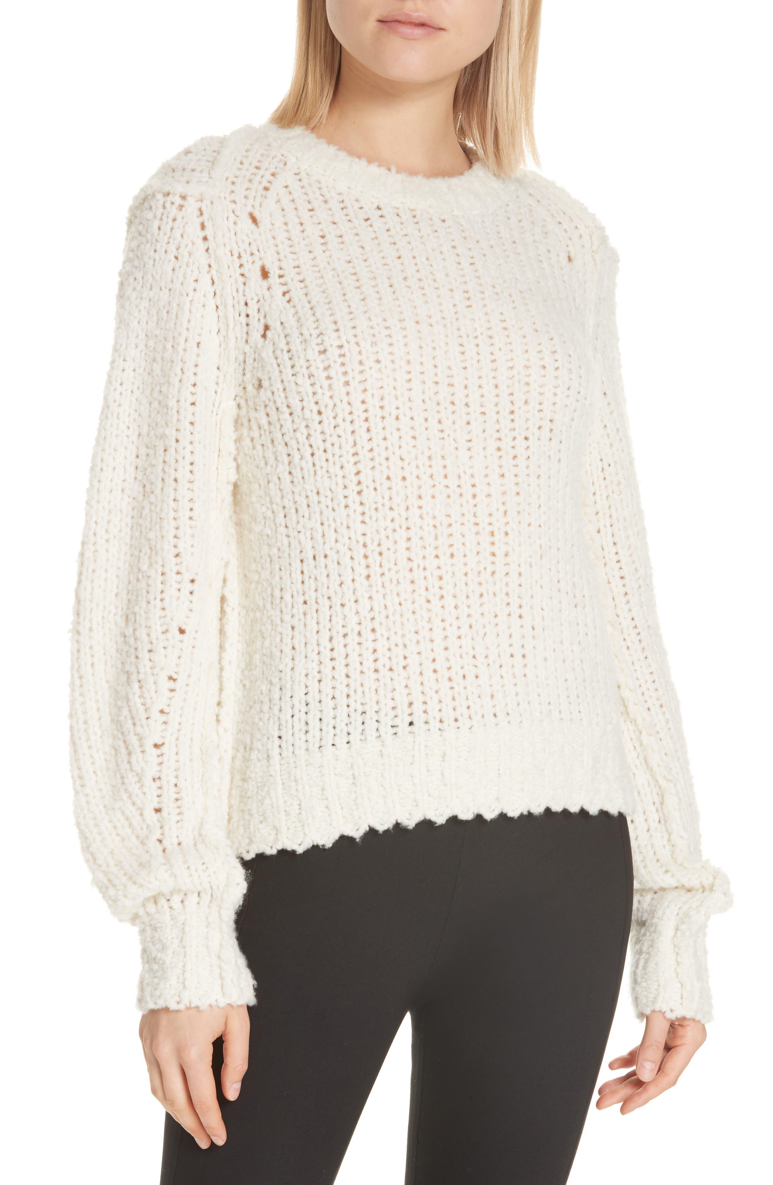Rag & Bone Arizona Merino Wool Sweater, Ivory
