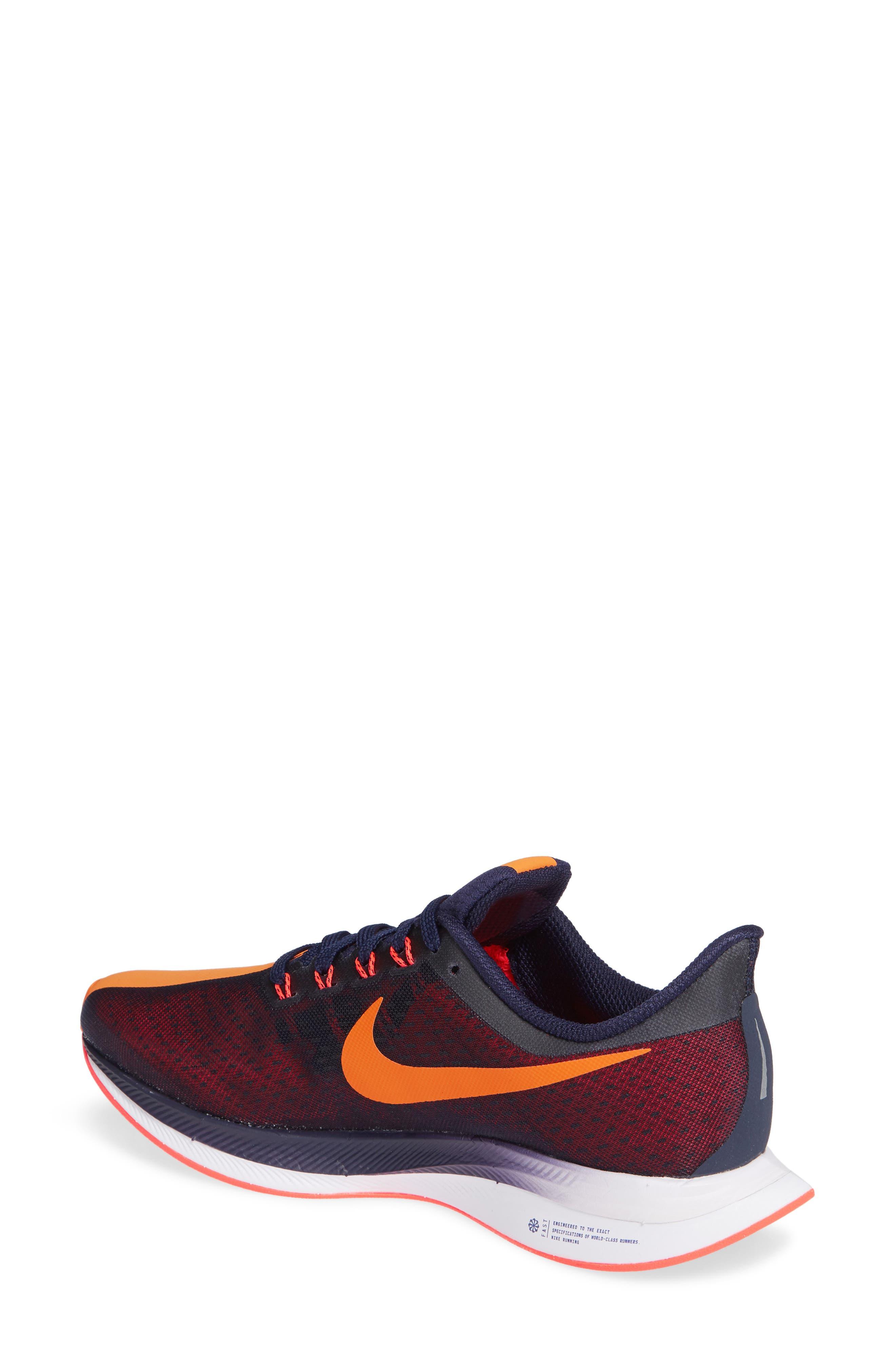 Zoom Pegasus 35 Turbo Running Shoe,                             Alternate thumbnail 2, color,                             BLACKENED BLUE/ CRIMSON/ BLACK