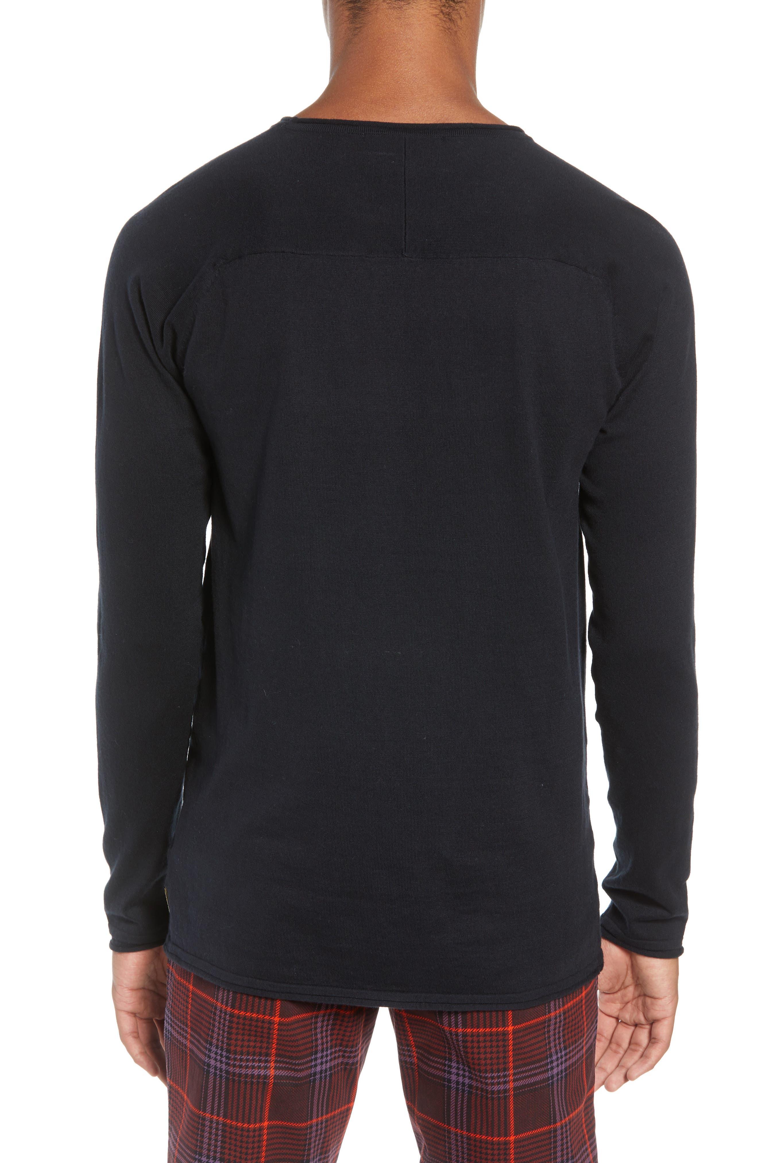 Crewneck Sweatshirt,                             Alternate thumbnail 2, color,                             BLACK