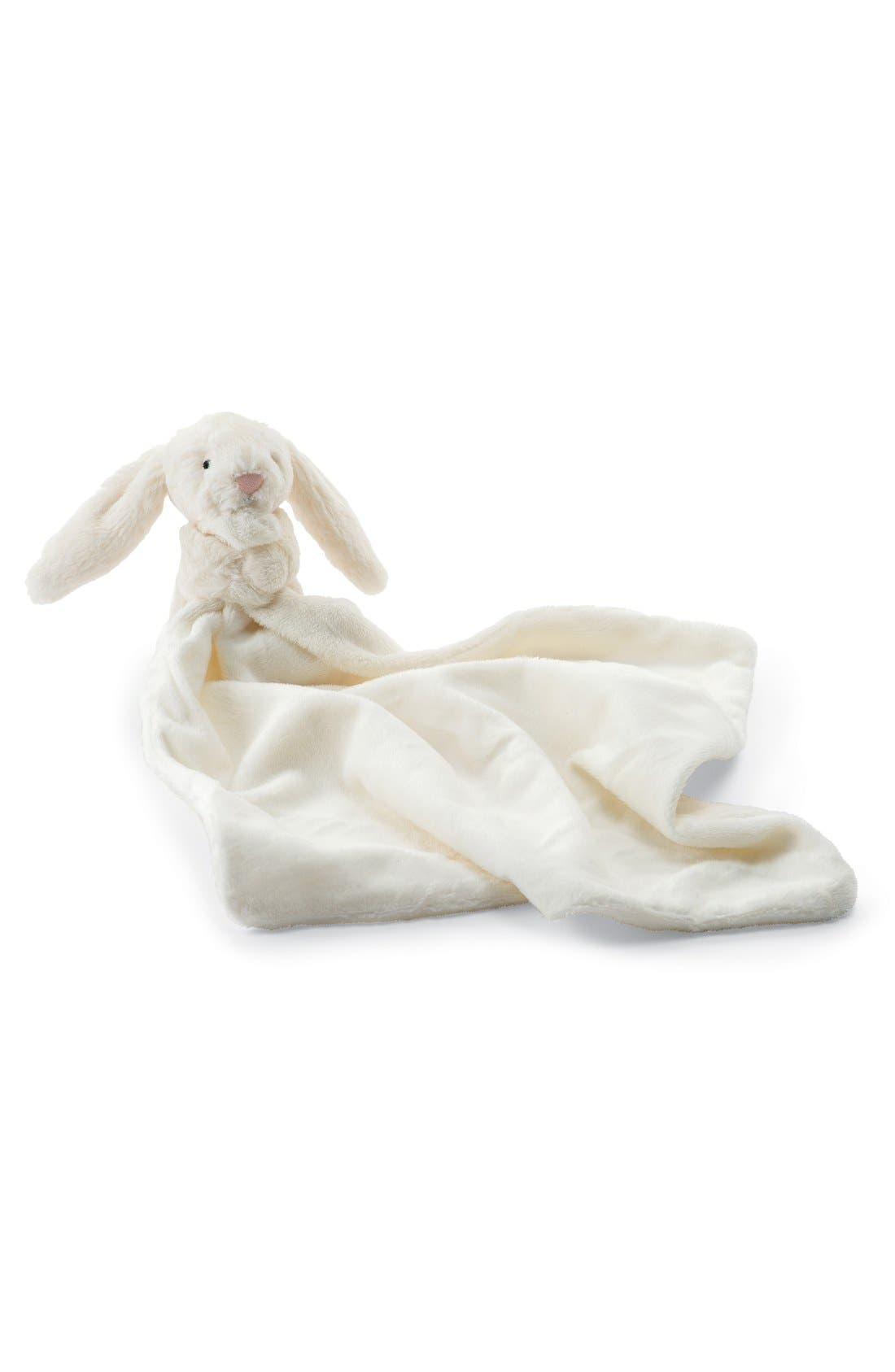 'Bashful Bunny Soother' Blanket,                             Main thumbnail 1, color,                             WHITE