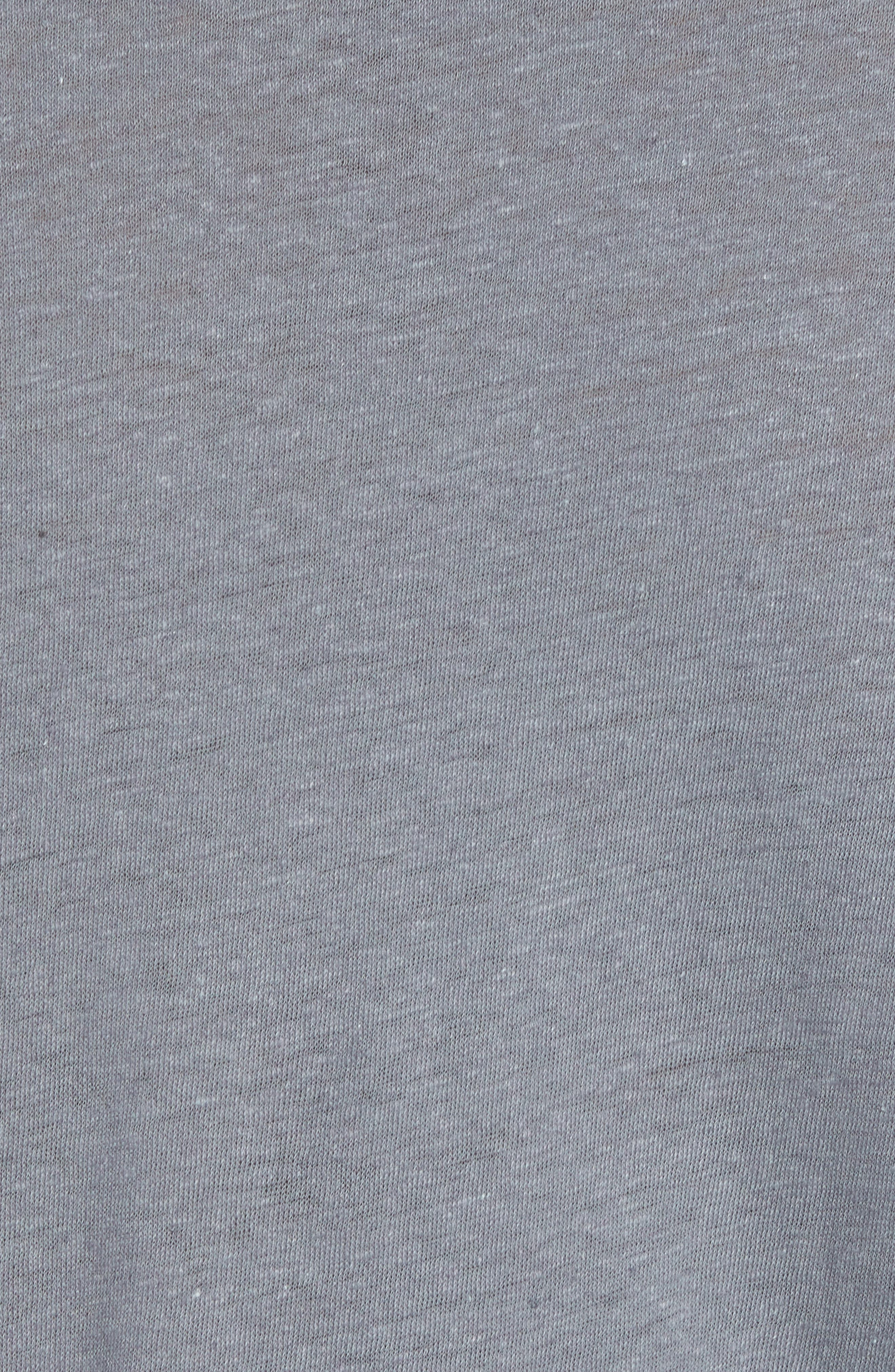 Raw Hem Linen & Cotton T-Shirt,                             Alternate thumbnail 5, color,                             SILVER