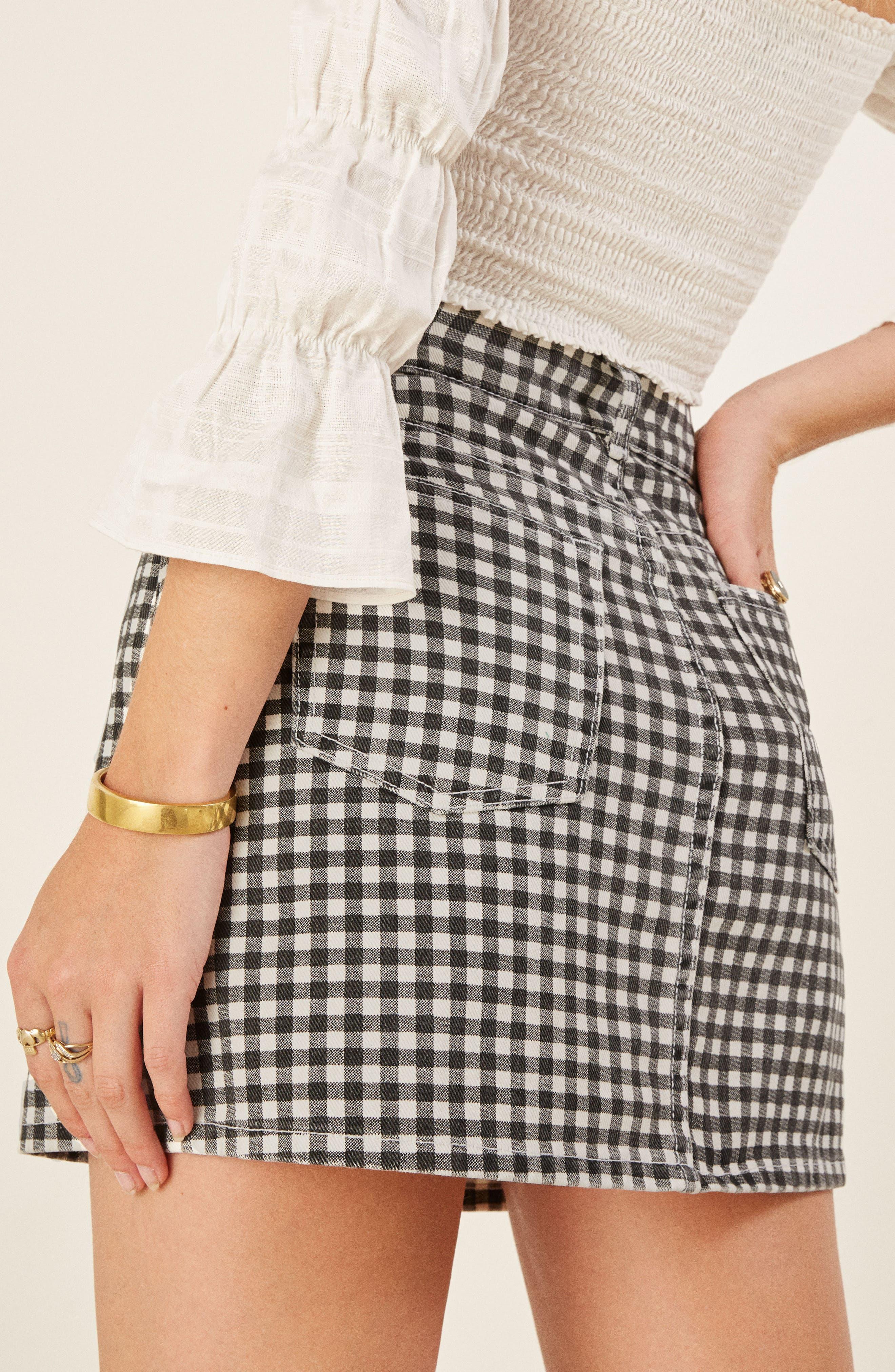 REFORMATION,                             Bianca Denim Miniskirt,                             Alternate thumbnail 2, color,                             001