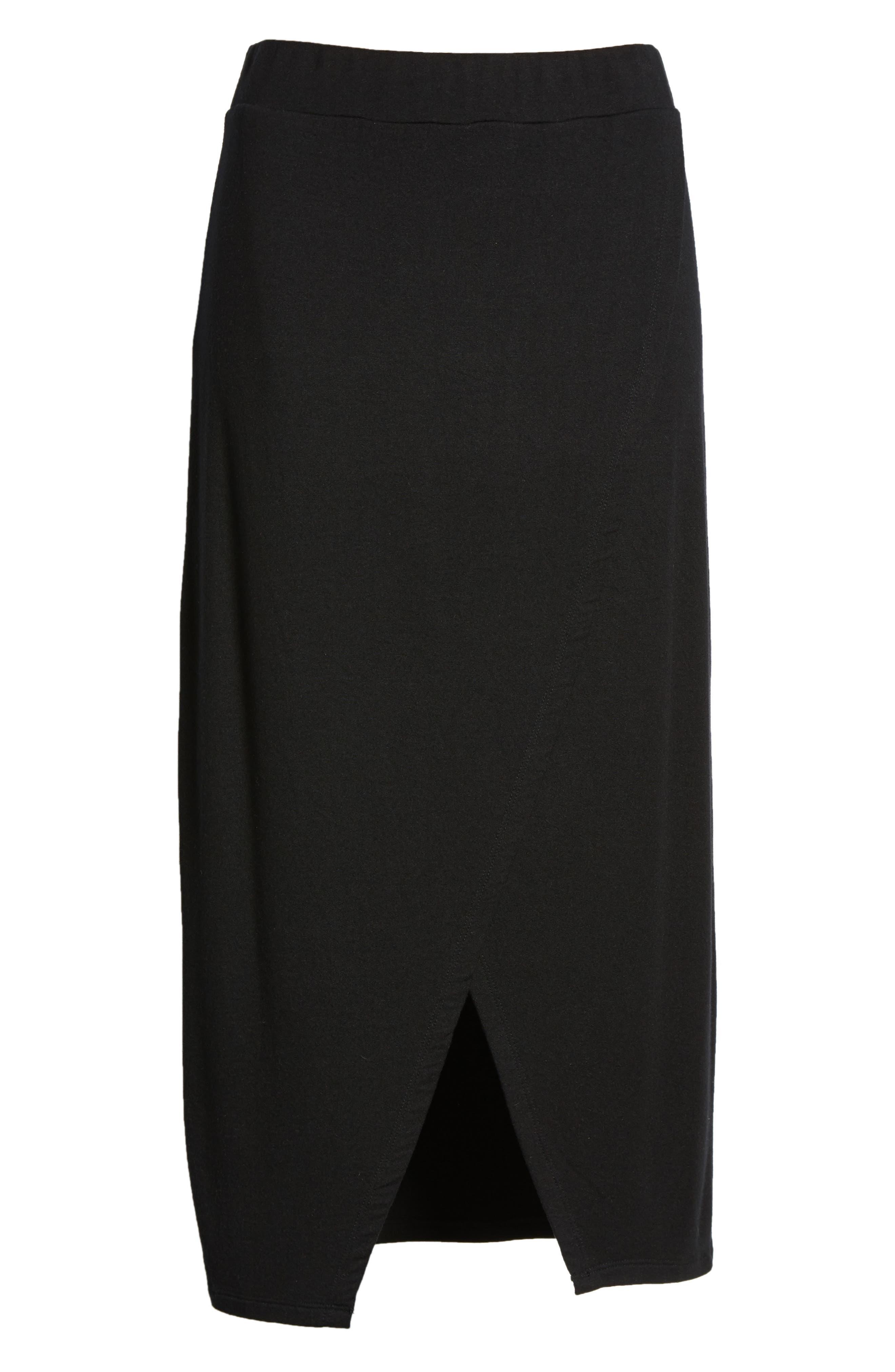 Faux Wrap Skirt,                             Alternate thumbnail 7, color,
