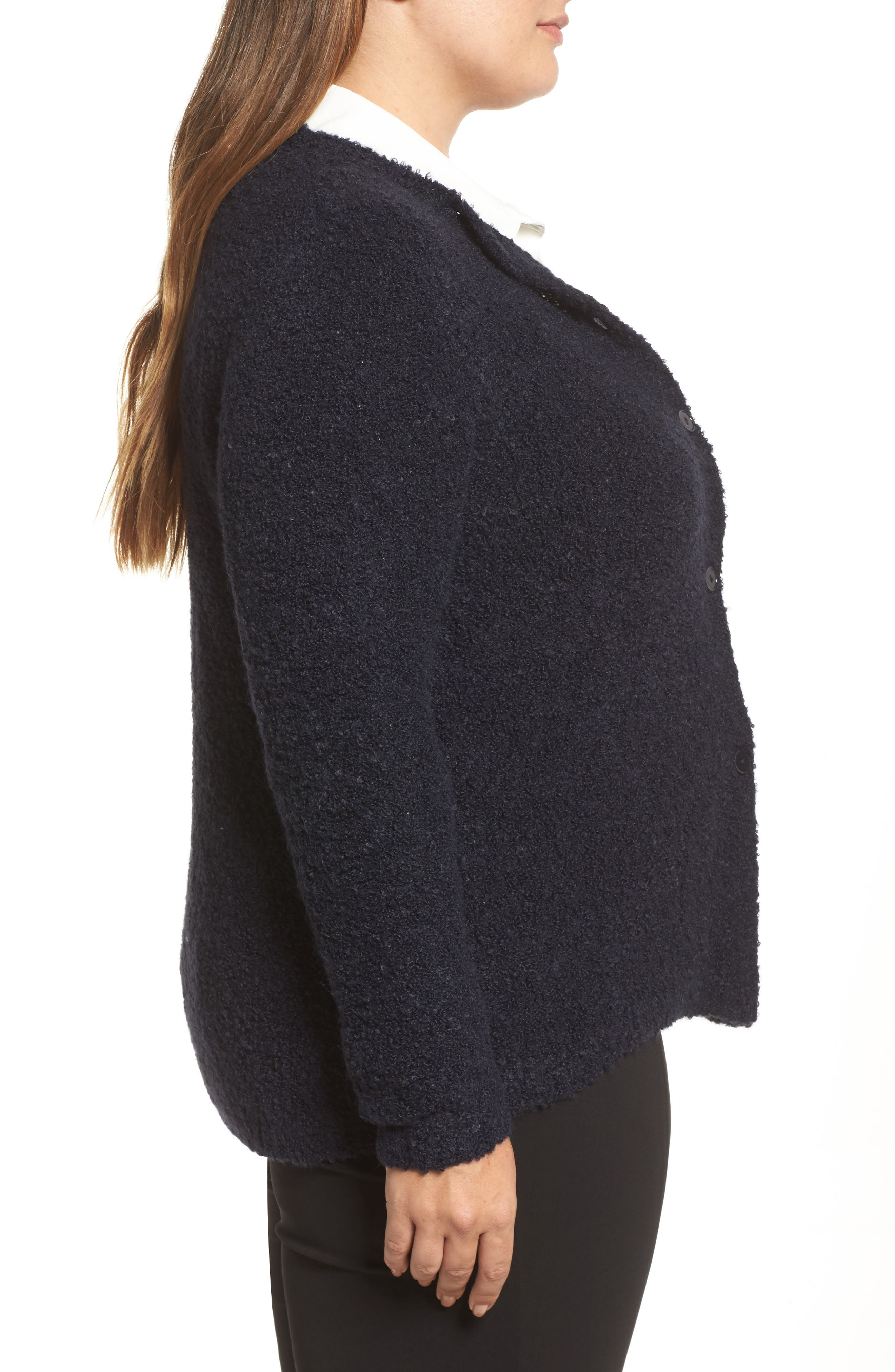 Melodico Button-Up Sweater,                             Alternate thumbnail 3, color,