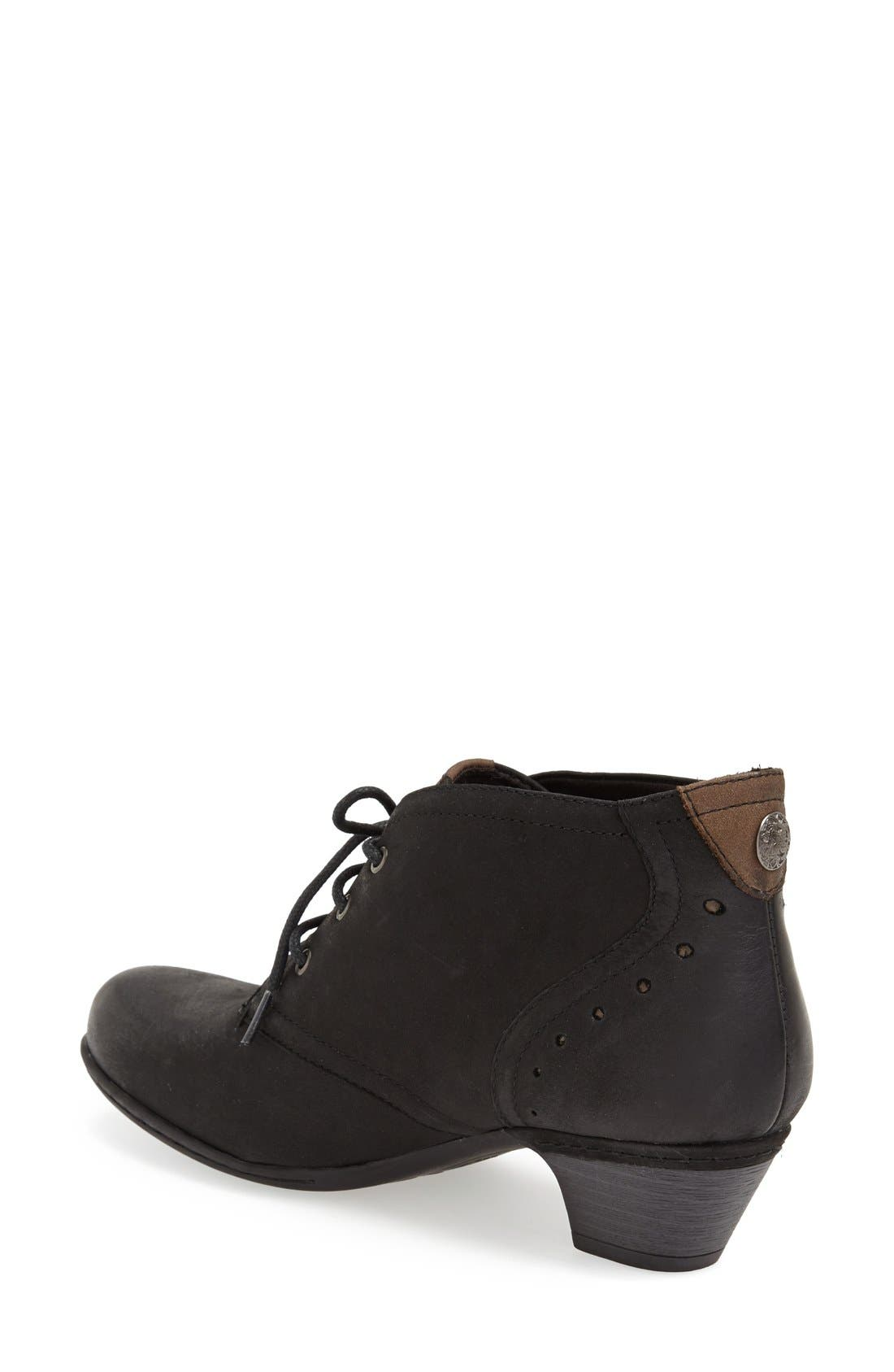 Aria Leather Boot,                             Alternate thumbnail 3, color,                             BLACK