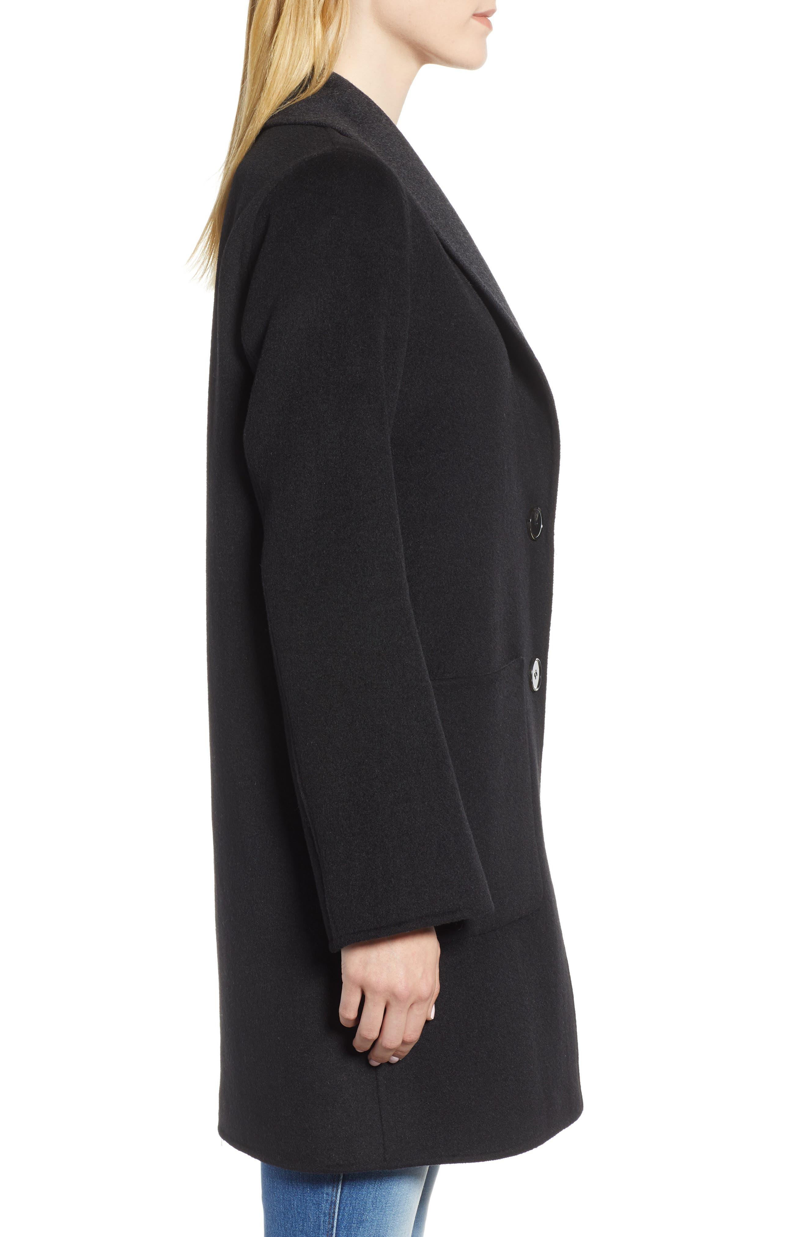 Jenn Double Face Wool Blend Reversible Coat,                             Alternate thumbnail 3, color,                             016