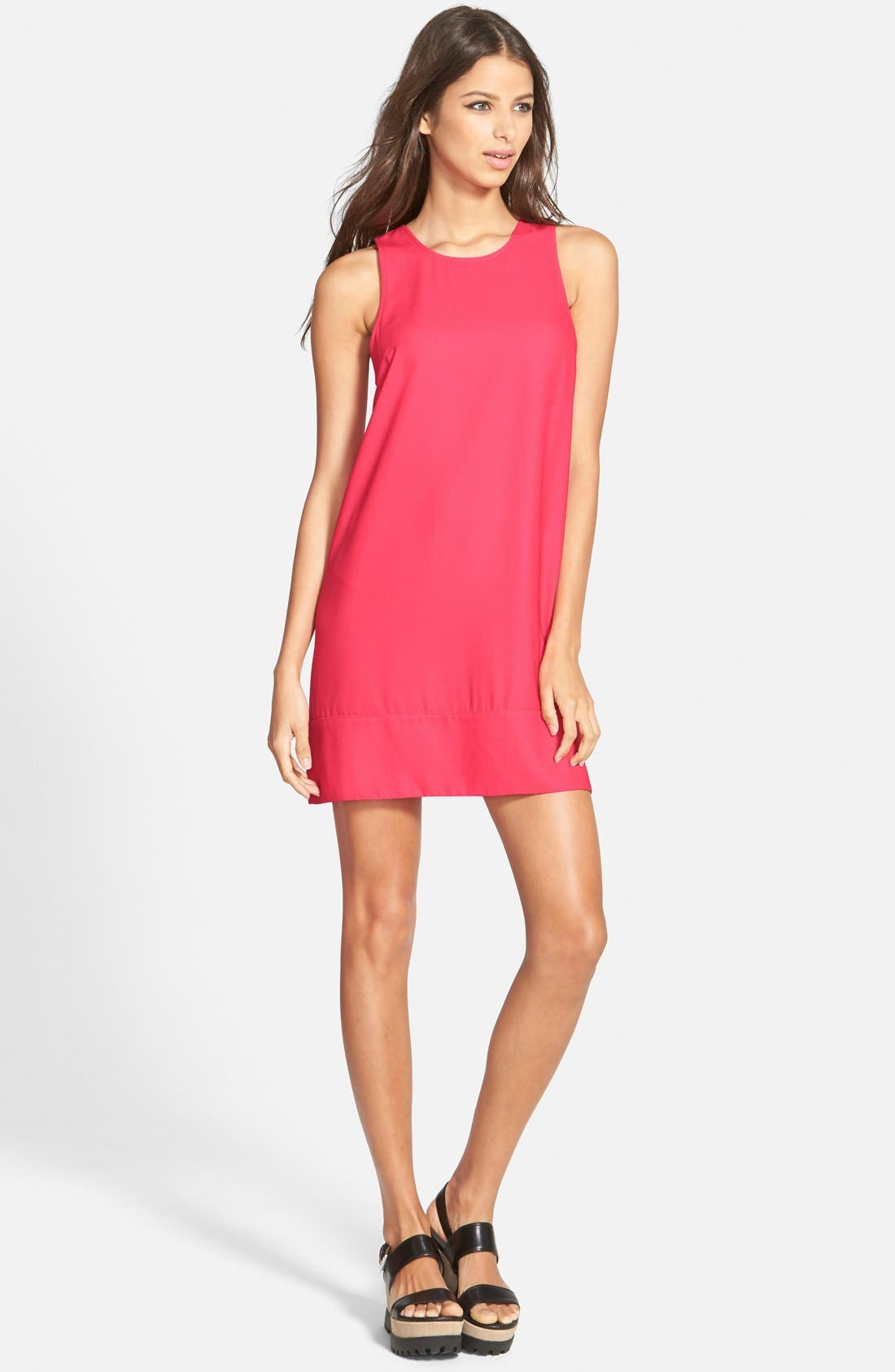 Racerback Shift Dress,                             Main thumbnail 38, color,