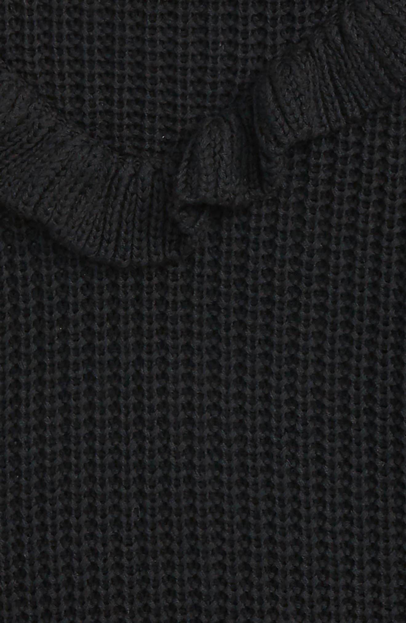 BLANCNYC Ruffle Sweater,                             Alternate thumbnail 3, color,