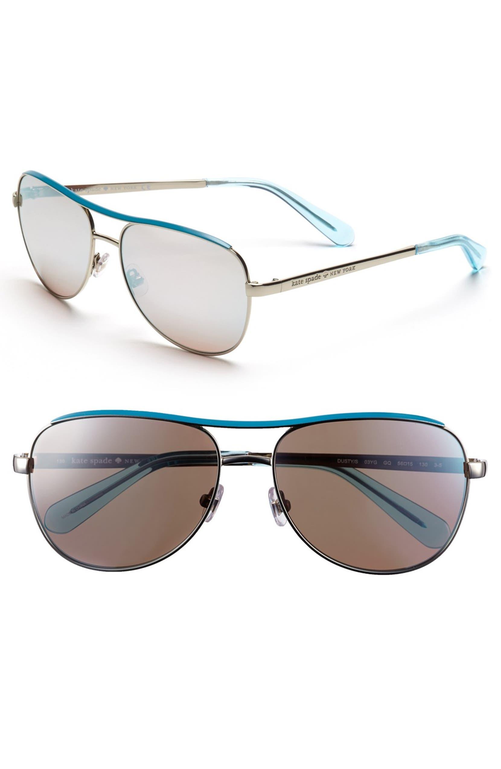 16cc5d8e07 kate spade new york  dusty  56mm metal aviator sunglasses