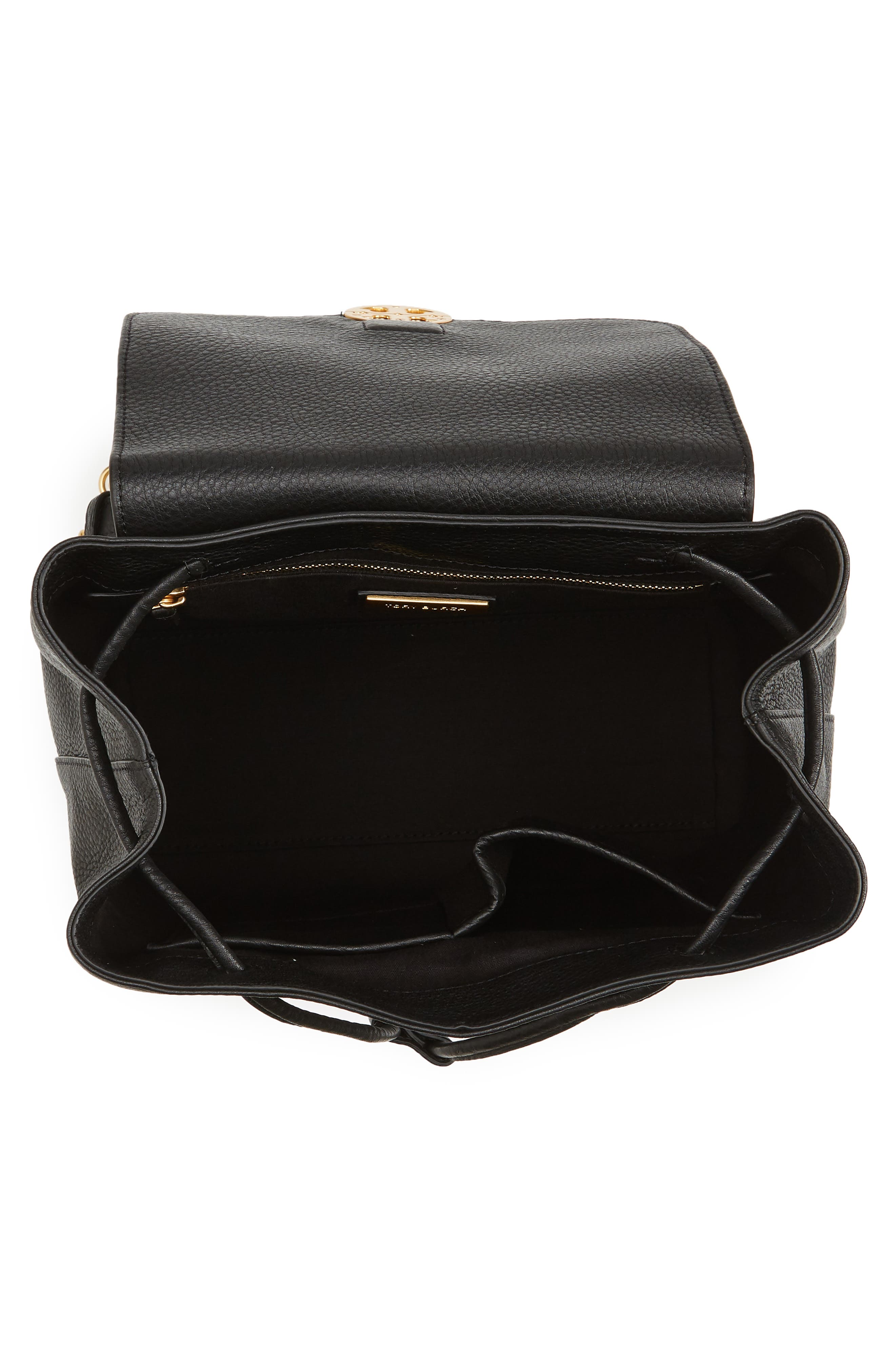 Chelsea Leather Backpack,                             Alternate thumbnail 4, color,                             001