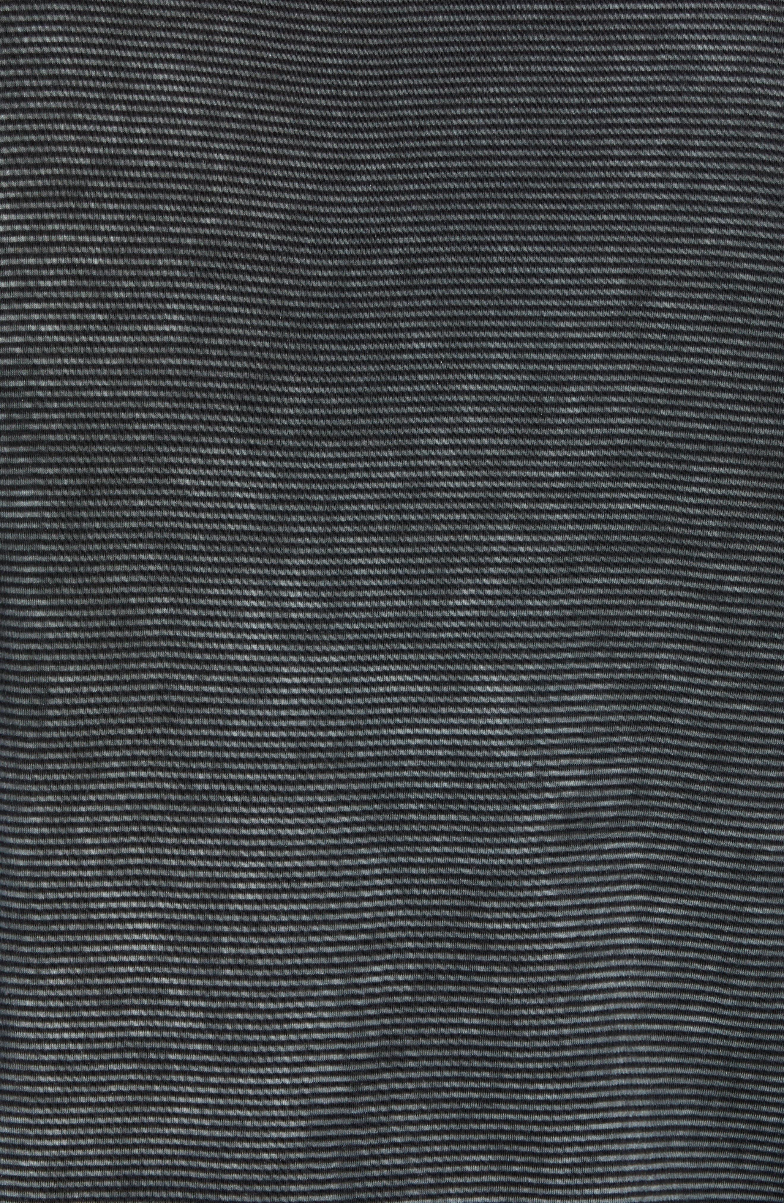 Striped Long Sleeve Polo,                             Alternate thumbnail 5, color,                             DARK GREY HEATHER