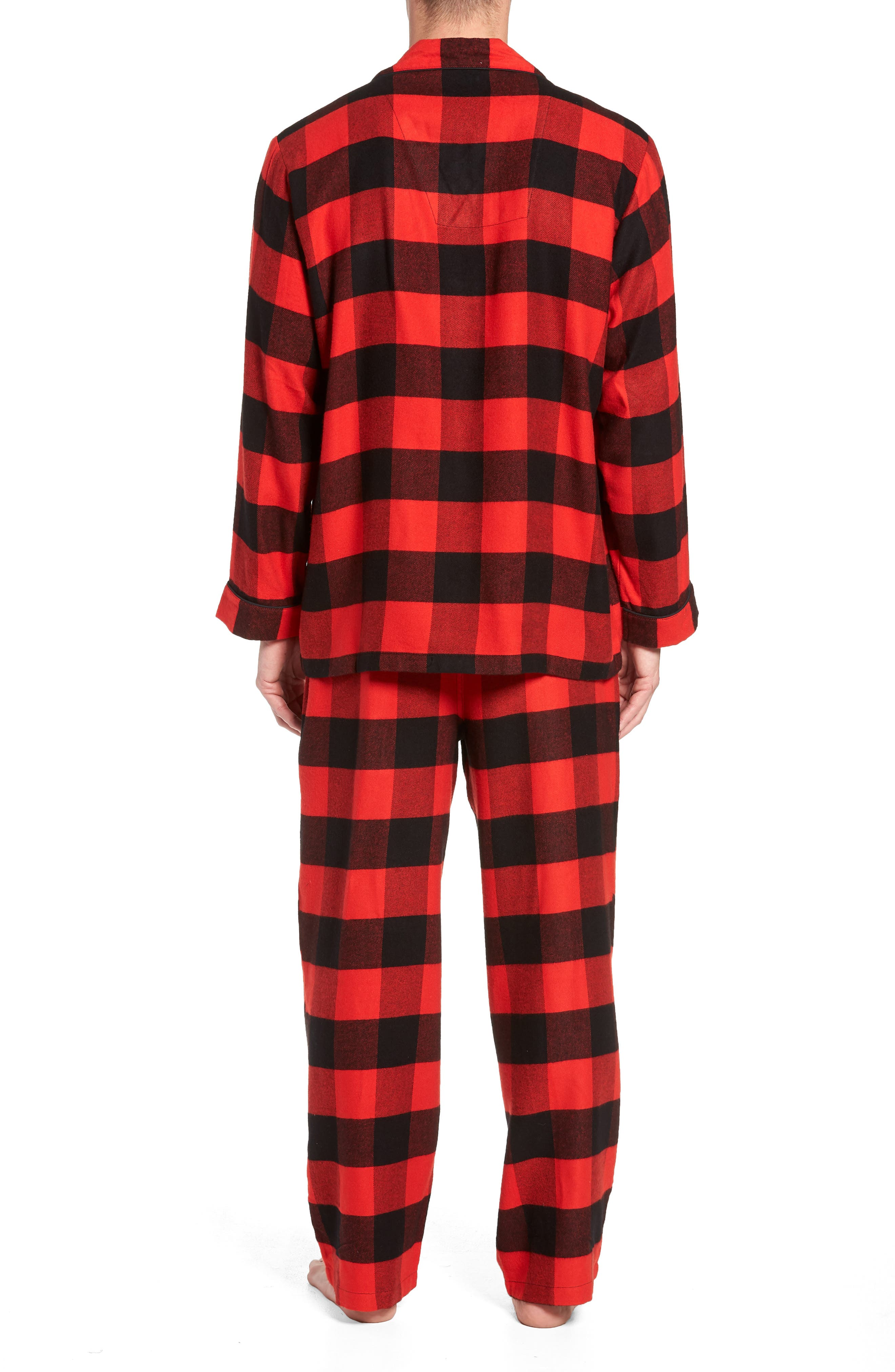 NORDSTROM MEN'S SHOP,                             Family Father Flannel Pajamas,                             Alternate thumbnail 2, color,                             610