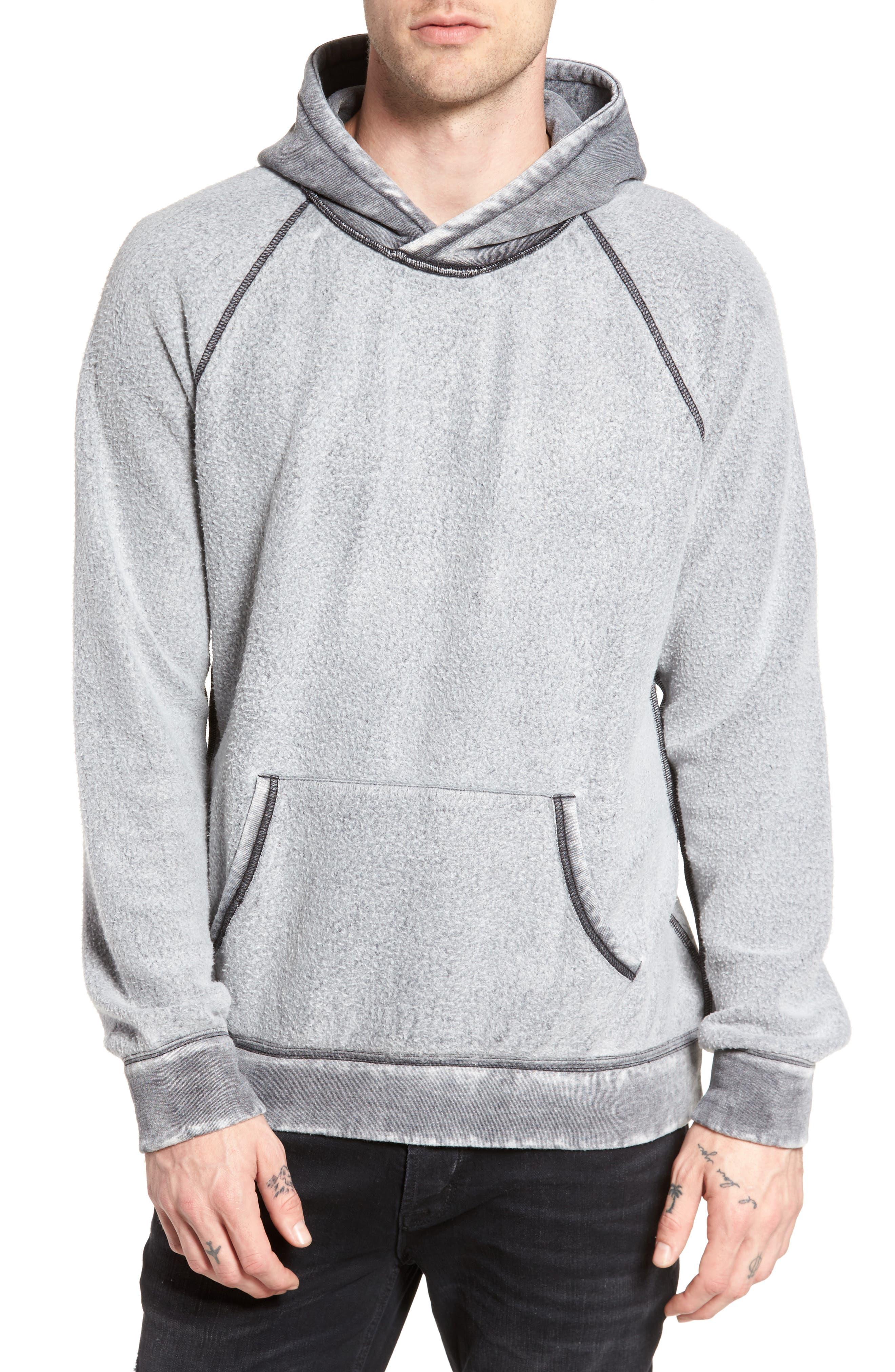 Reverse Fleece Hoodie,                         Main,                         color, 001