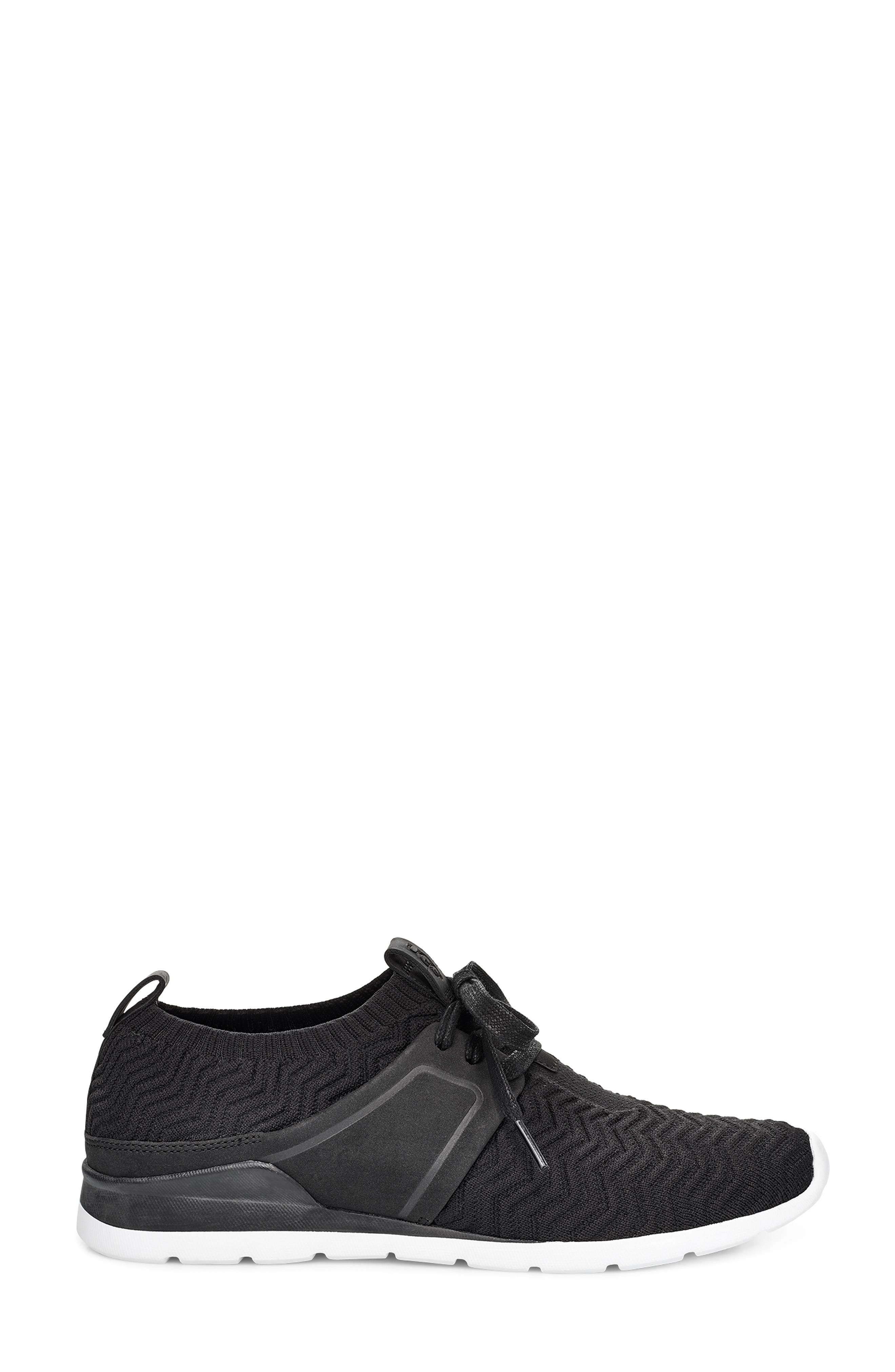 UGG<SUP>®</SUP>,                             Willows Sneaker,                             Alternate thumbnail 3, color,                             BLACK