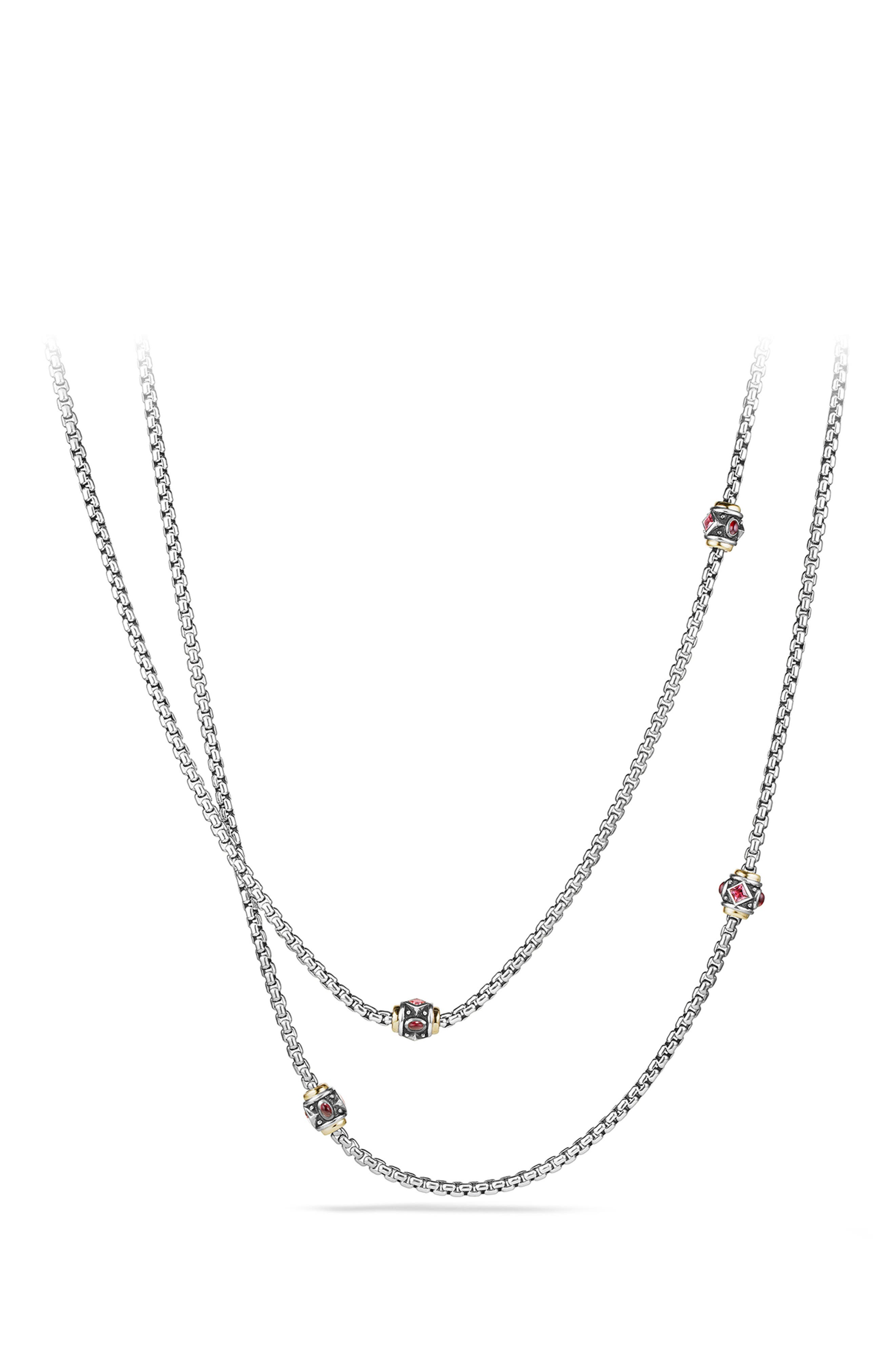 'Renaissance' Necklace with Semiprecious Stone and 18k Gold,                             Alternate thumbnail 3, color,                             650