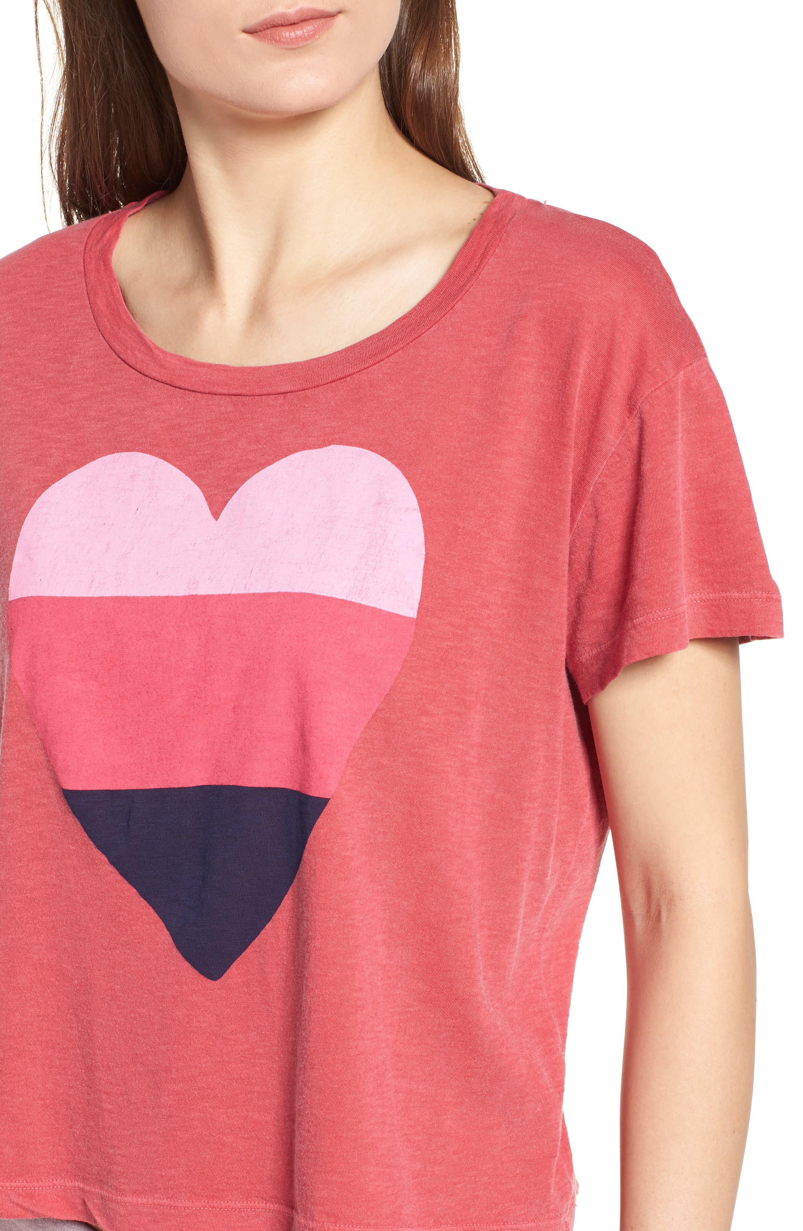 Heart Graphic Cotton Tee,                             Alternate thumbnail 4, color,                             617