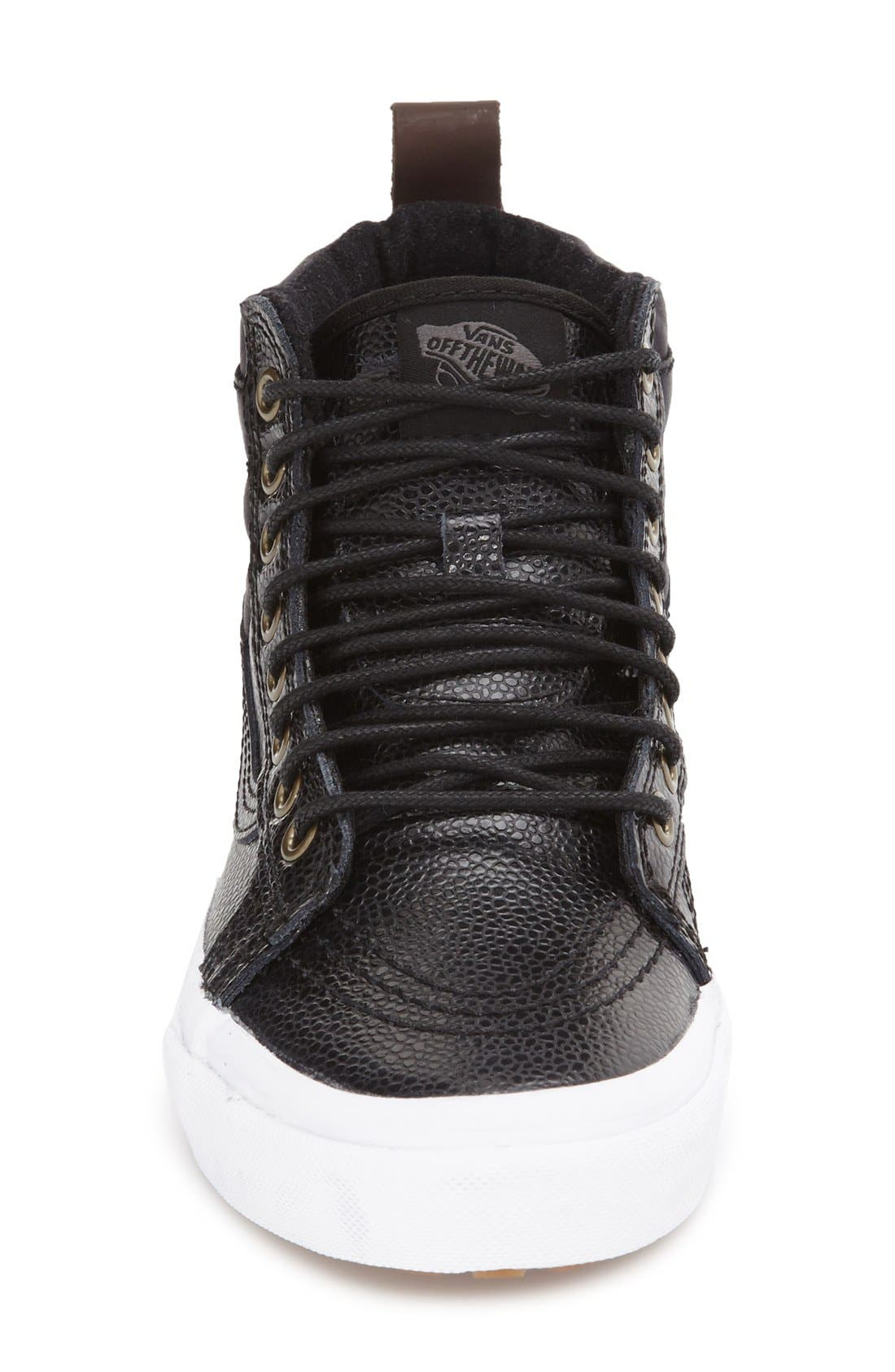 'Hana Beaman - Sk8-Hi 46 MTE' Water Resistant High Top Sneaker,                             Alternate thumbnail 3, color,                             001