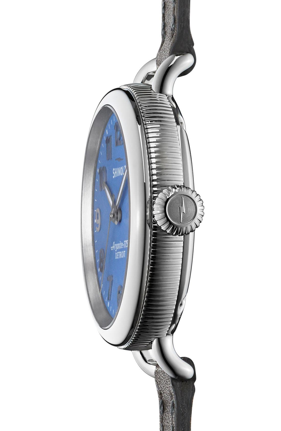 'The Birdy' Double Wrap Leather Strap Watch, 34mm,                             Alternate thumbnail 21, color,